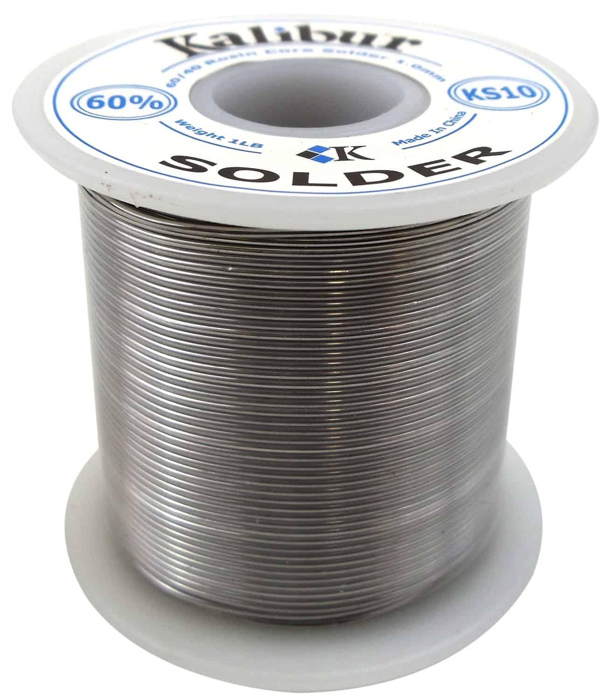 KS10 - Kalibur 60/40 Rosin Core 19 Gauge Solder 1.0mm (1 Lb Spool)