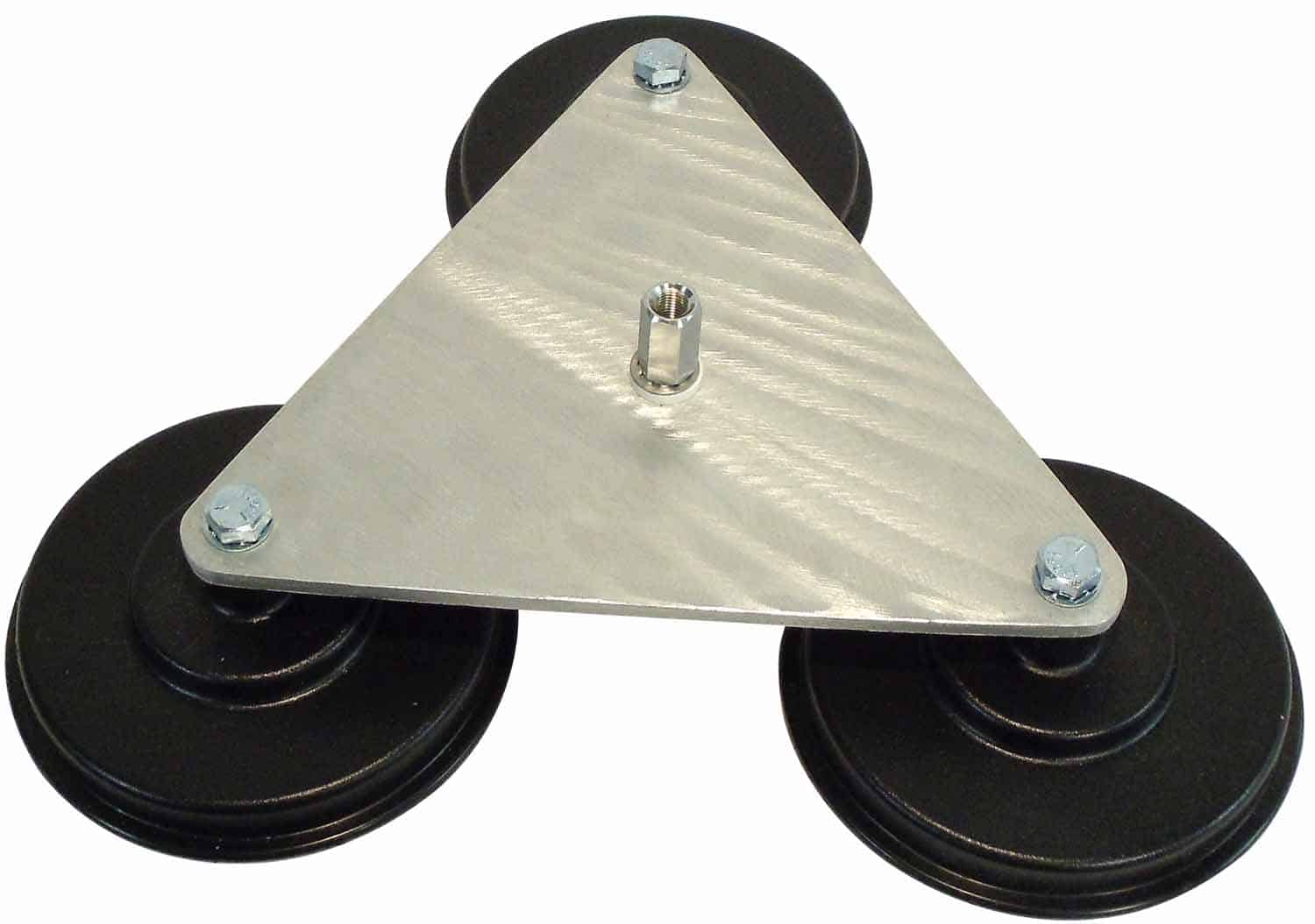 """LPAD - Twinpoint Heavy Duty Aluminum Plate Antenna Mount w/ 3 5"""" Magnets & Right Angle So-239"""