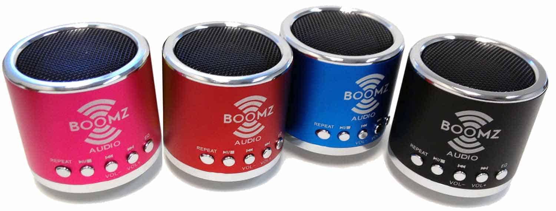 """M2X218011-P - 2"""" Mini """"Boomz"""" Speaker (Pink)"""