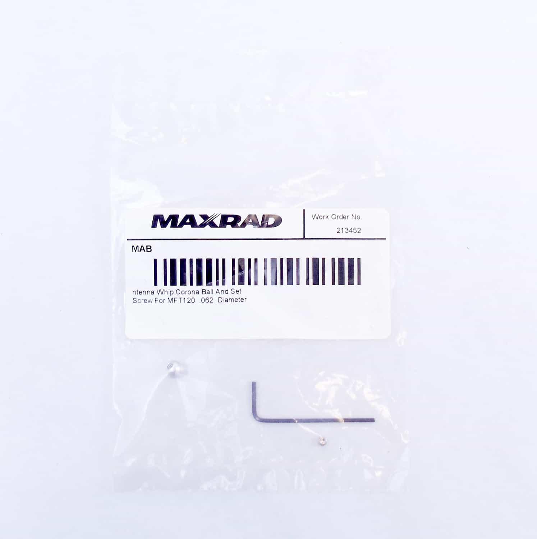 MAB - Maxrad Replacement Corona Ball & Set Screw
