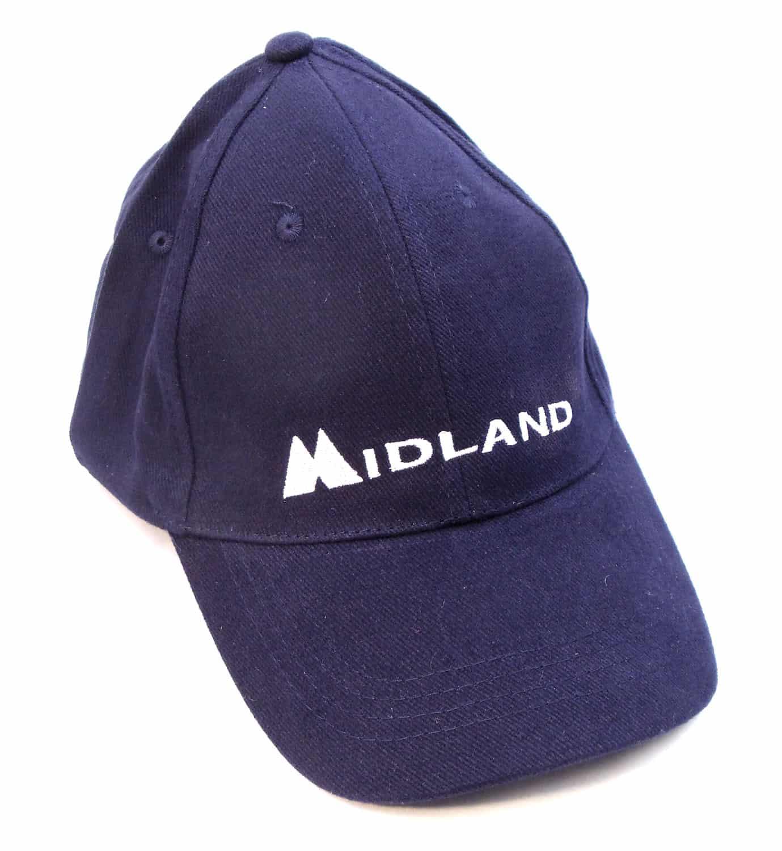 MIDCAP-BL - Midland Logo Dark Blue Cap With Hook & Loop Adhesion Closure