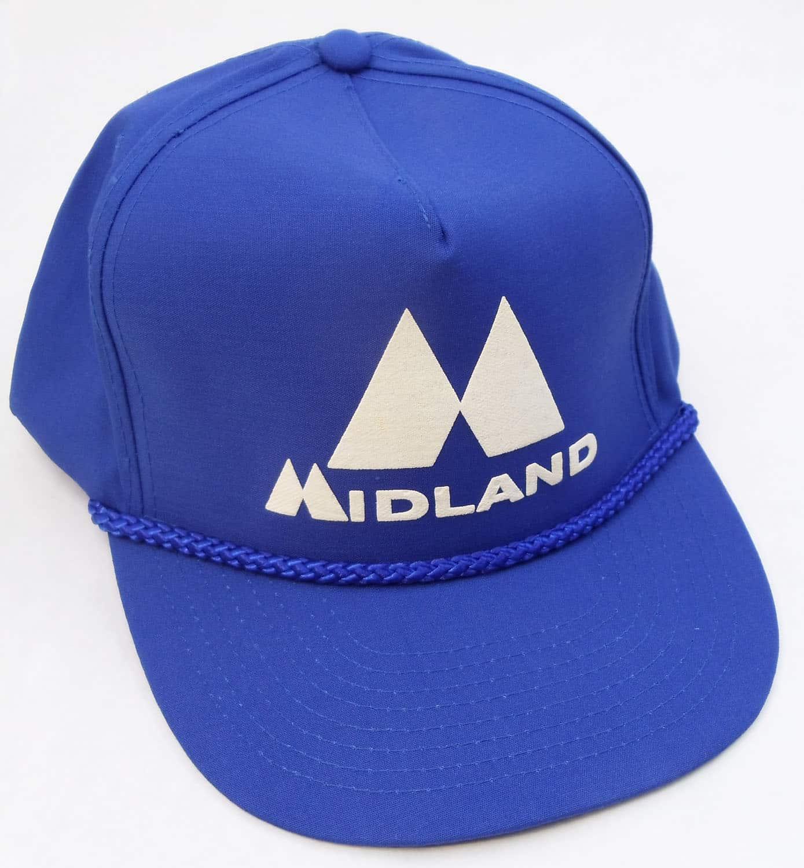 MIDHAT-BL - Midland Logo Cap In Bright Blue - Cloth Back