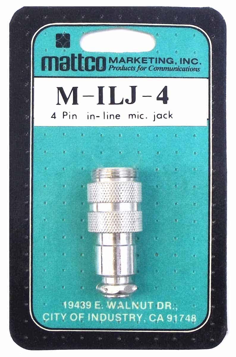 MILJ4 - Mattco 4 Pin In-Line Microphone Jack