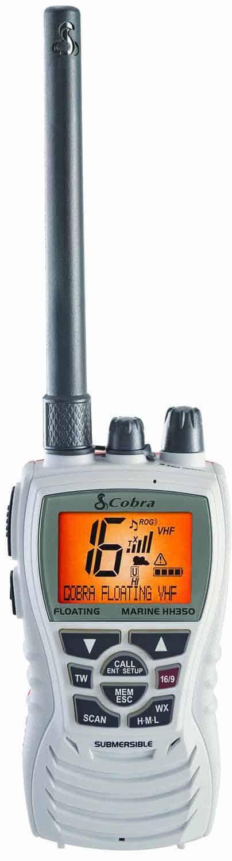 MRHH350FLT-W - Cobra® 6 Watt VHF Floating Marine Radio