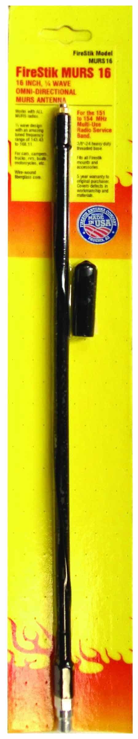 """MURS16-B - Firestik 16"""" MURS 1/4 Wave Mobile Antenna"""