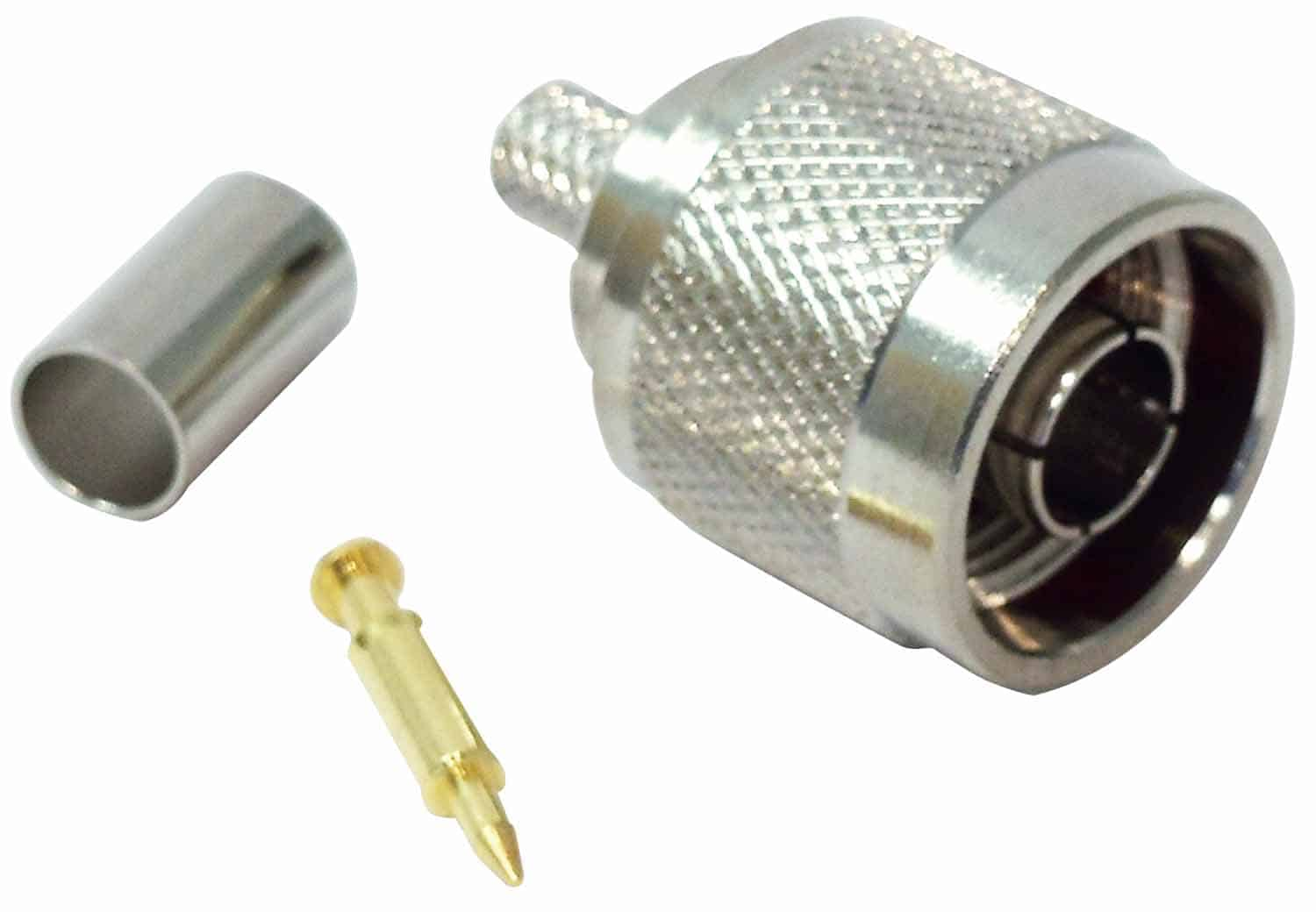 N112 - ProComm N Male Crimp Connector For Rg8X Coax Cable