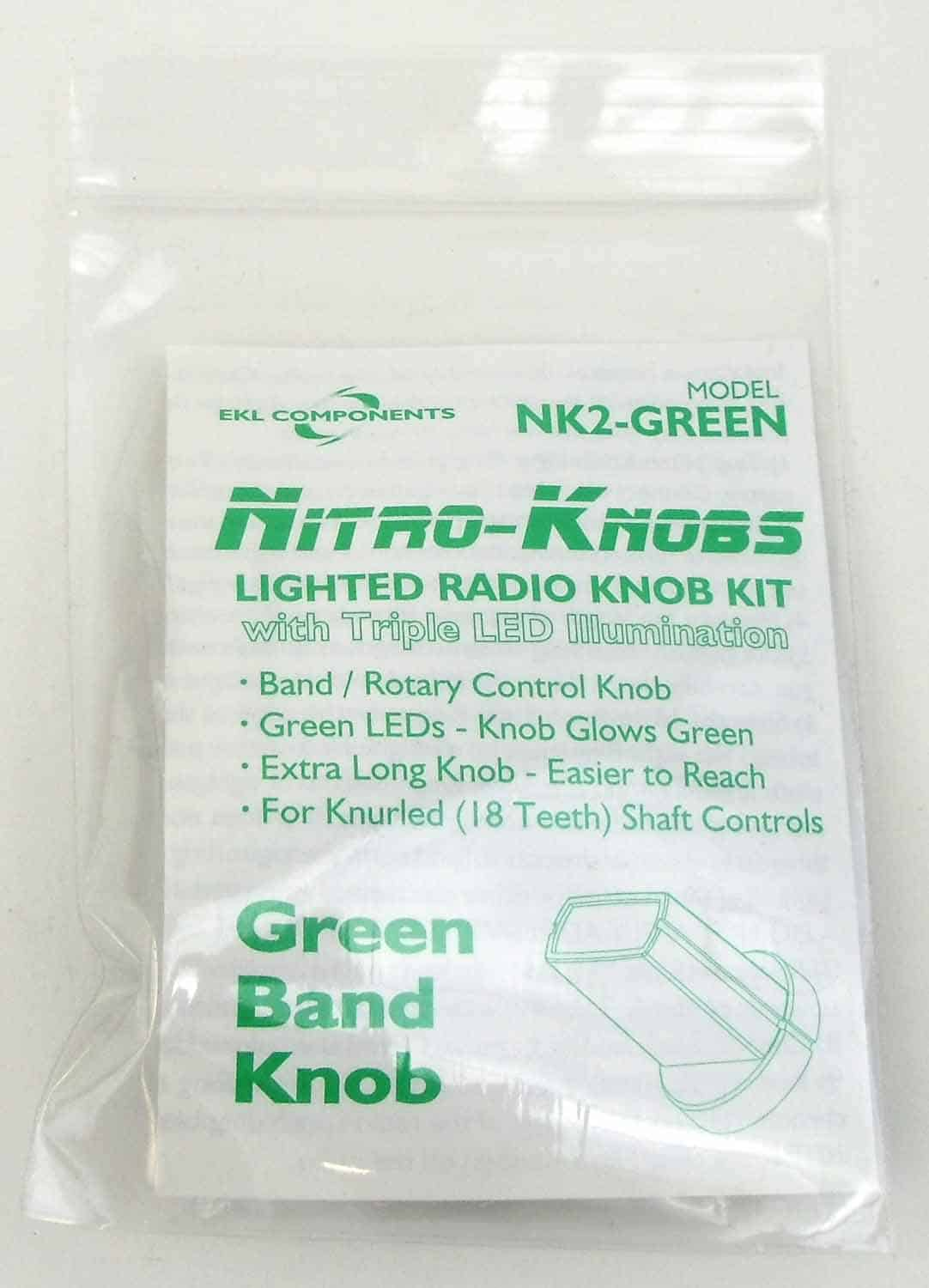 NK2-G - EKL Nitro Knob For Band Switch (Green)