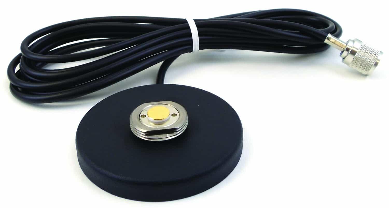"NMOMMR - Larsen Nmo 3.5"" Round Magnetic Antenna Mount 12' Coax & PL259"