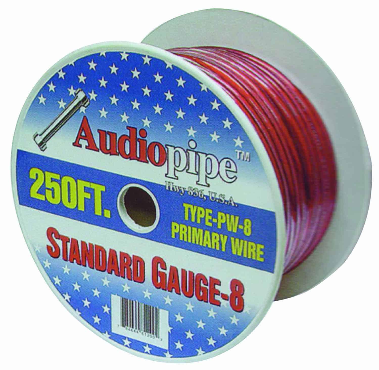 PW8250-B - Audiopipe 250' 8 Gauge Oxygen Free Power Cable (Black)