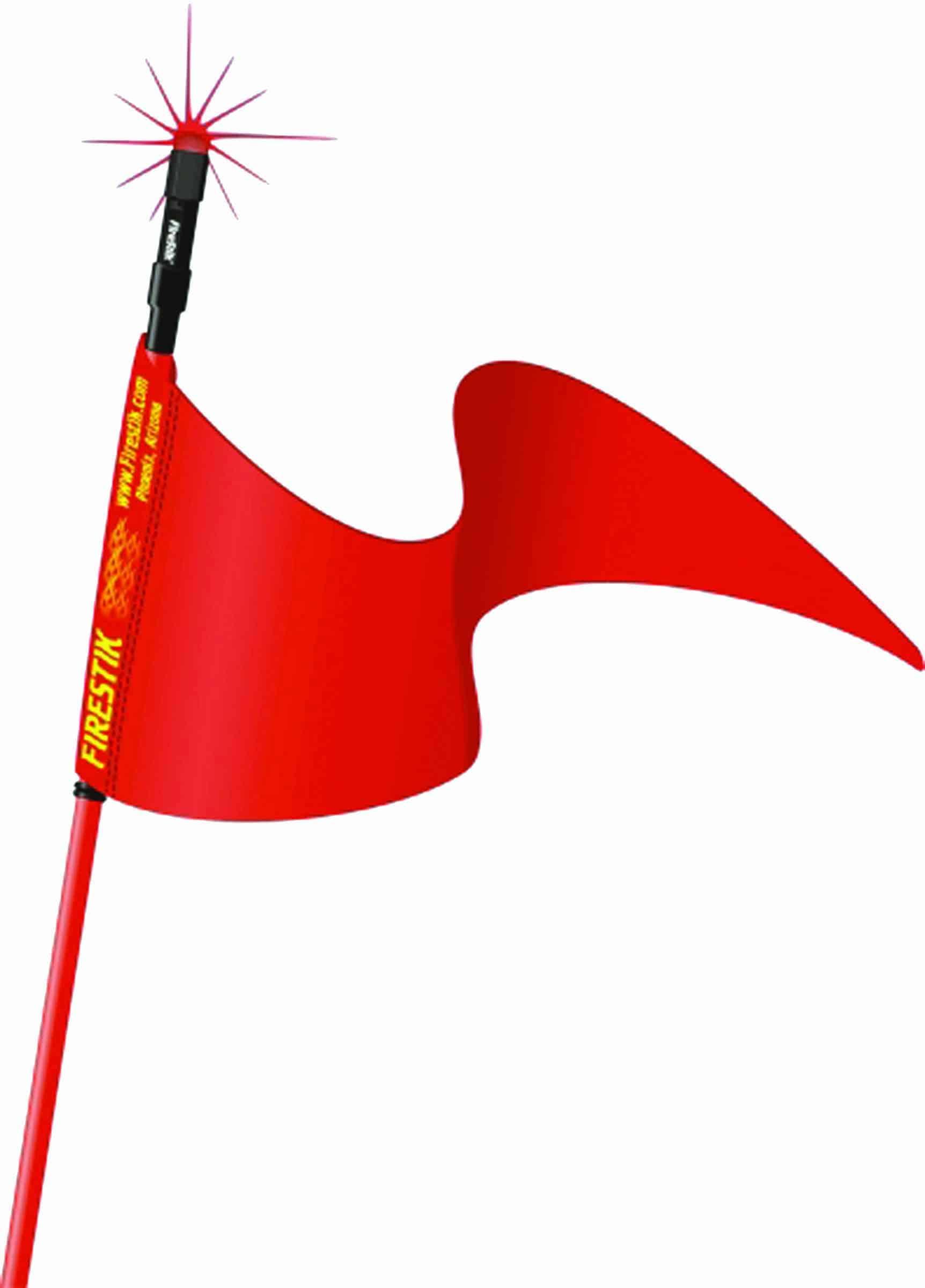 "SR3-R - Firestik 3' Red Strobe Ready Stik (3/8""X24 Base) With Flag"