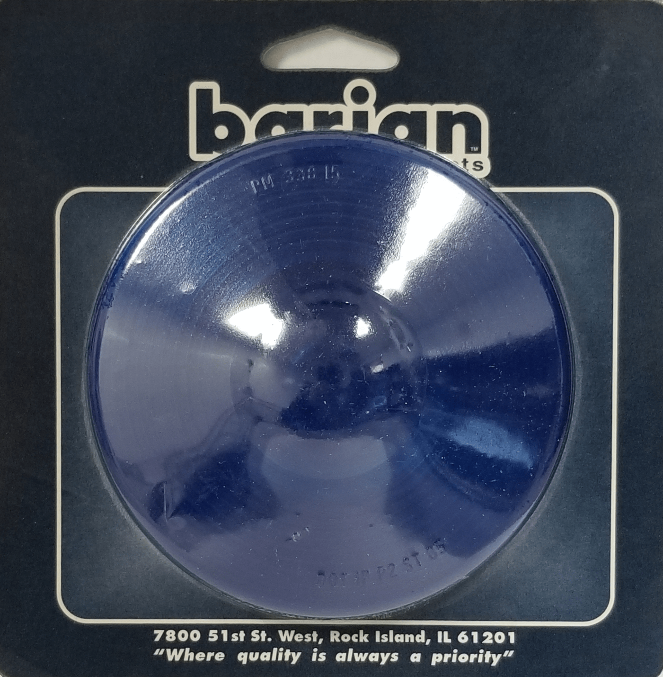 """049BP33815B - Blue Lens 4-1/4"""" Round Carded,Peterson"""