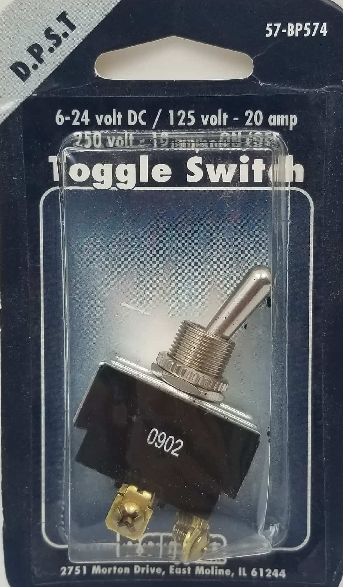 057BP574 - Toggle Switch Spst Momenty Sc Carded