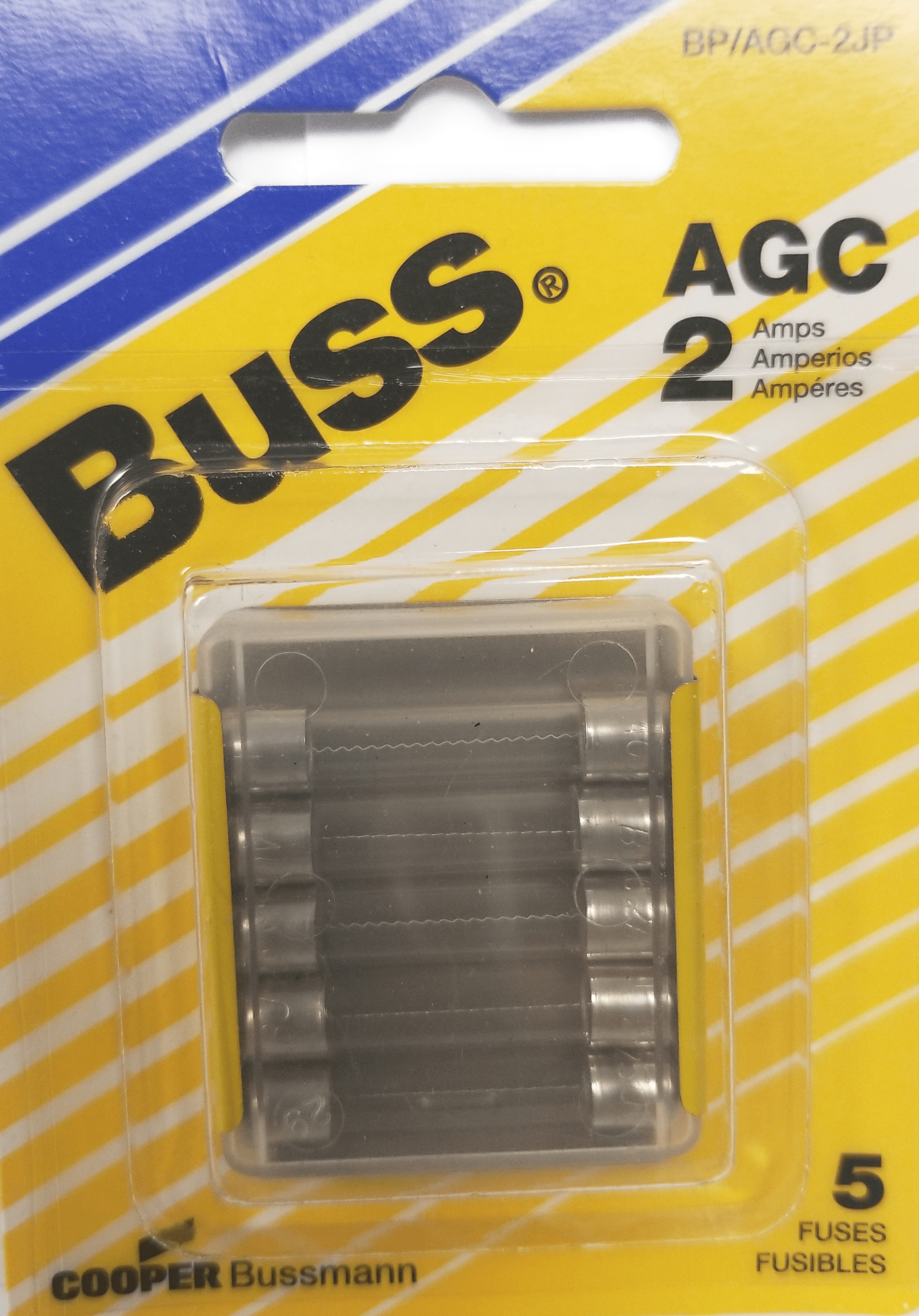 058BPAGC2JP - Blister Packed Agc-2 Amp Fuse, 5 Pack