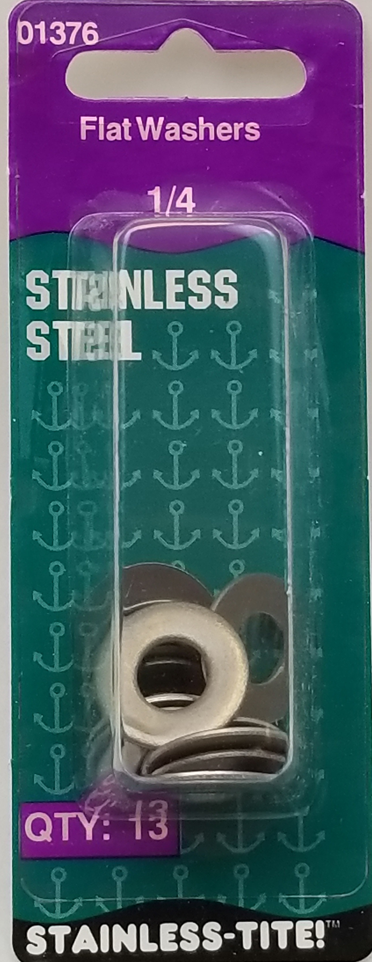 """07401376 - Stainless Steel 1/4"""" Flat Washer"""