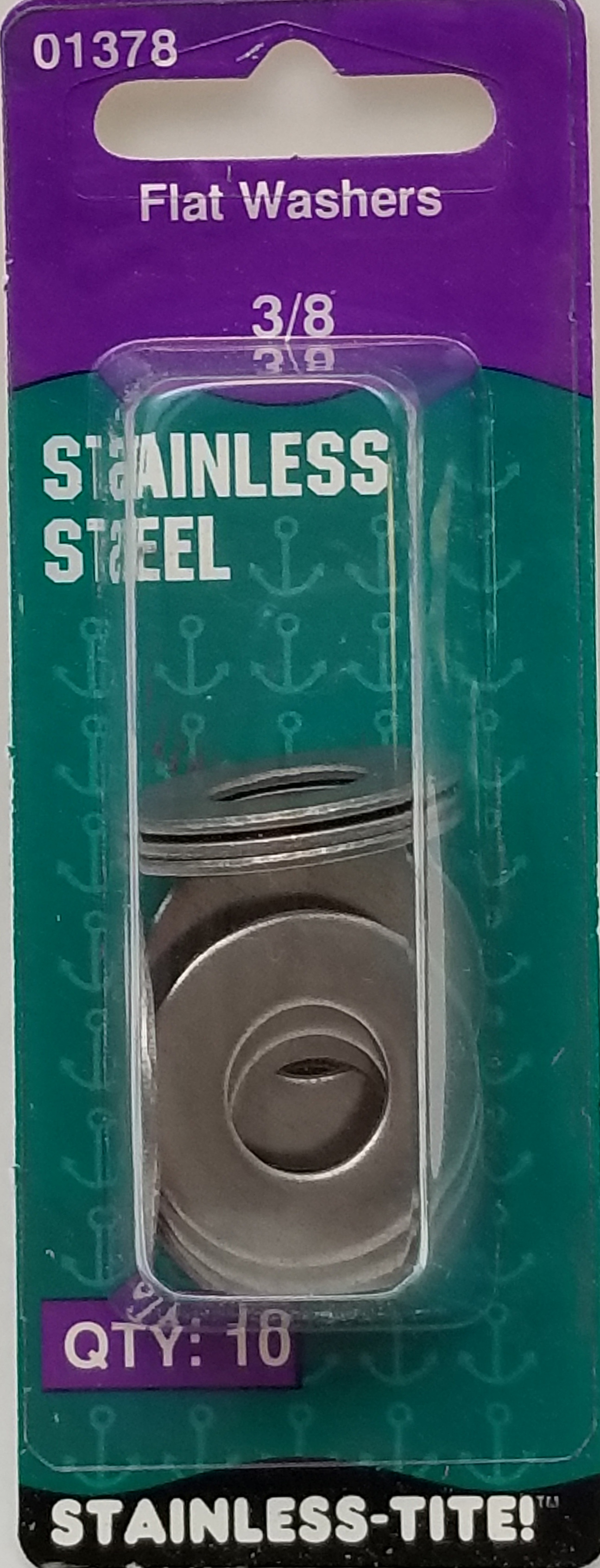 """07401378 - Stainless Flat Washers 3/8"""""""
