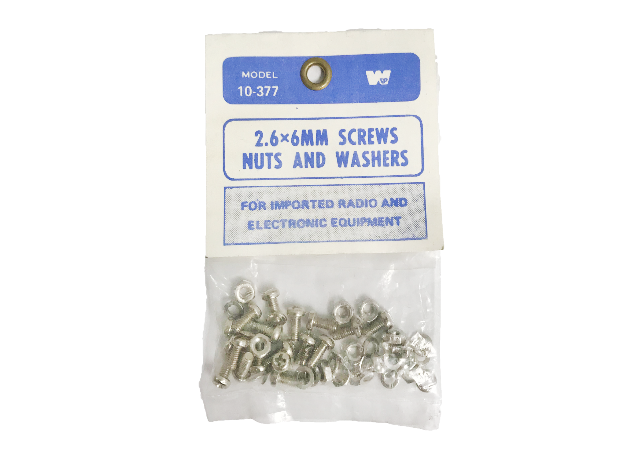 10377 - Twinpoint 2.6 x 6mm Screws & Nuts & Washers