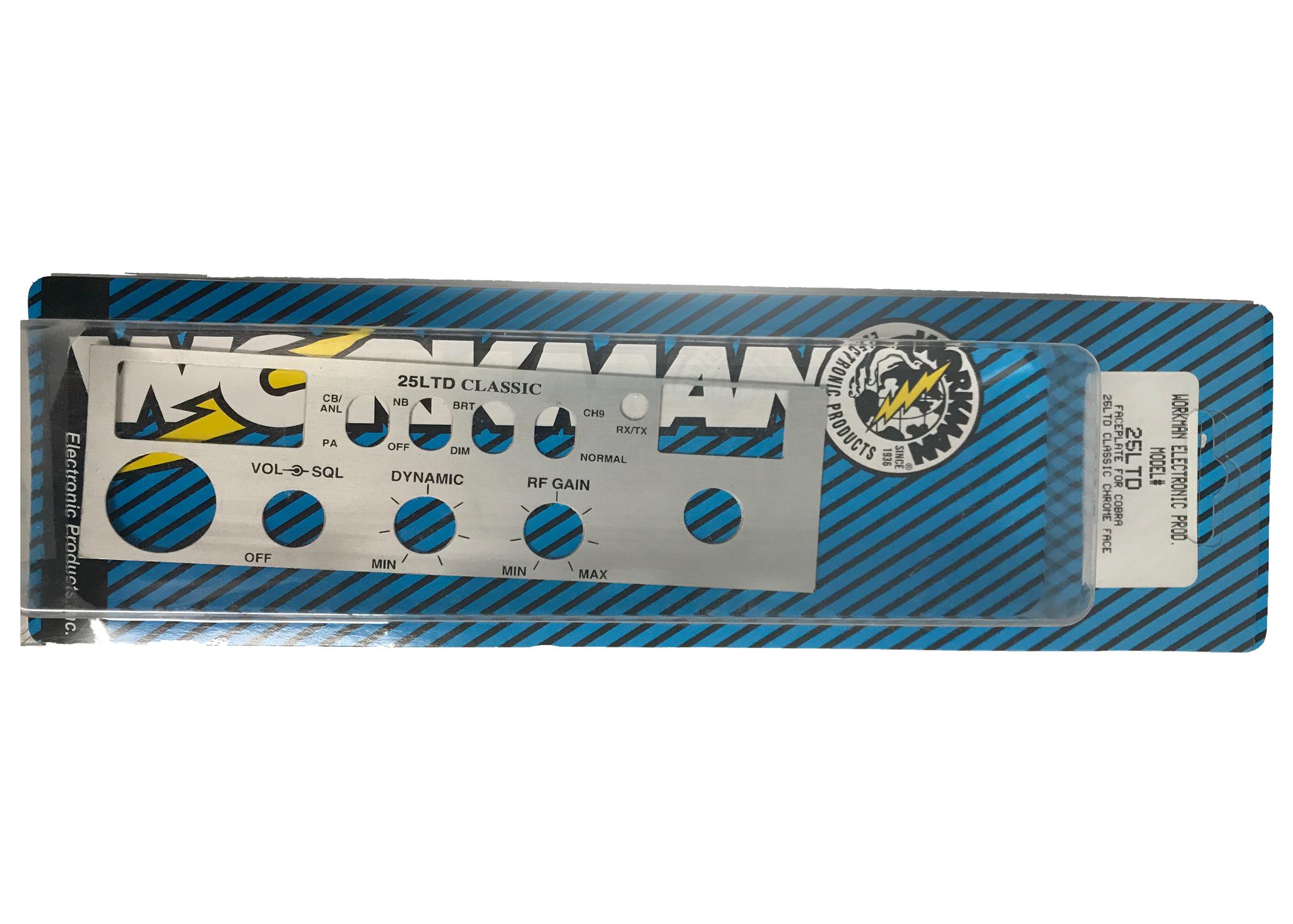 25CHROME - Chrome Face Plate For The C25LTD Radio
