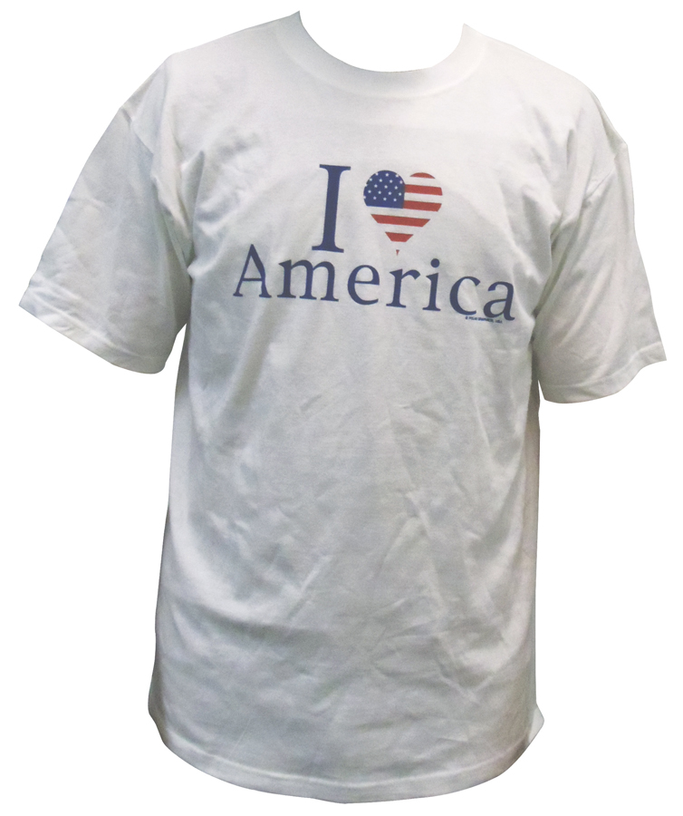 2695L - I Heart America Large Size T-Shirt