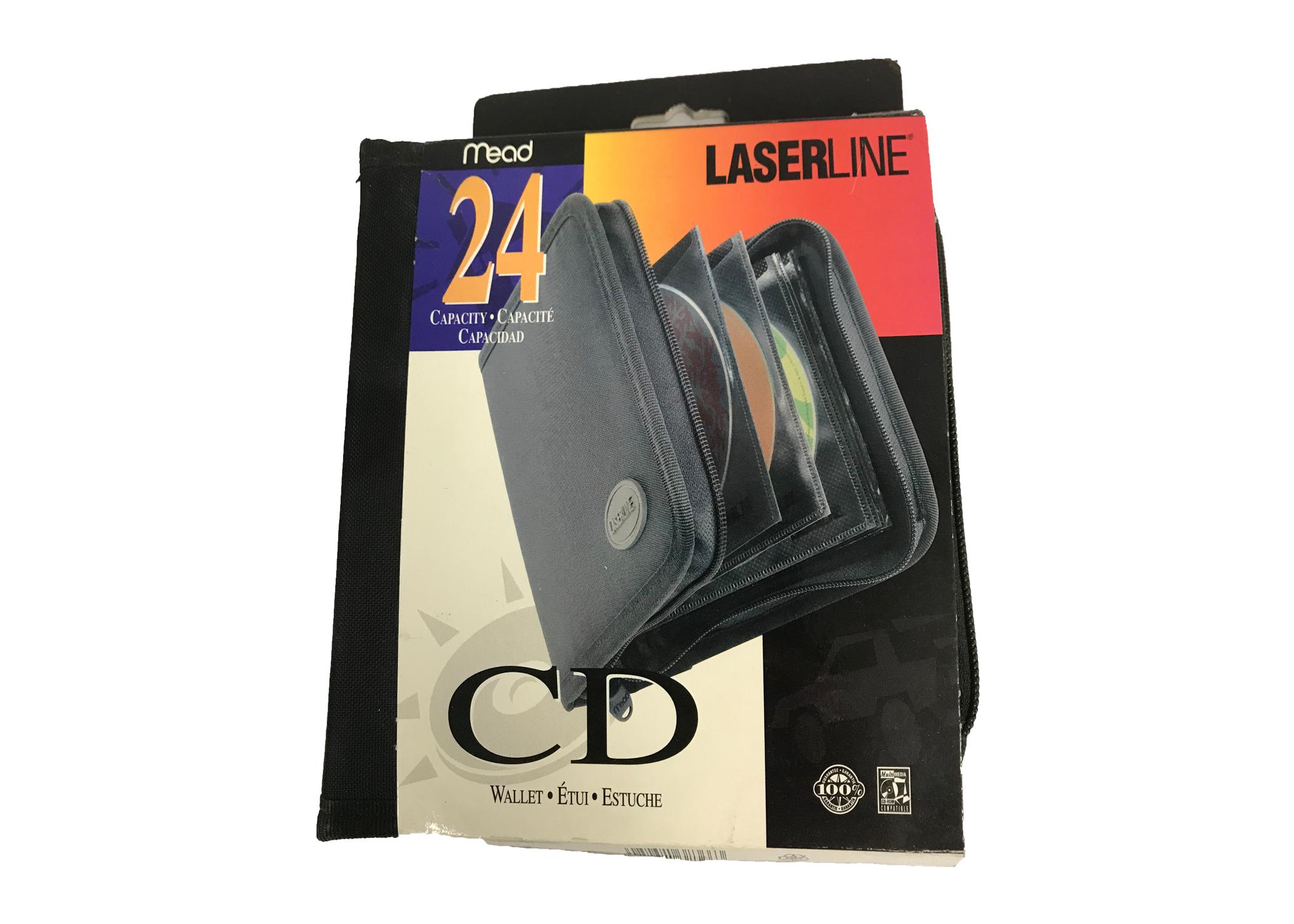29538366 - Laserline Nylon Card Wallet 24 CD or DVD Capacity