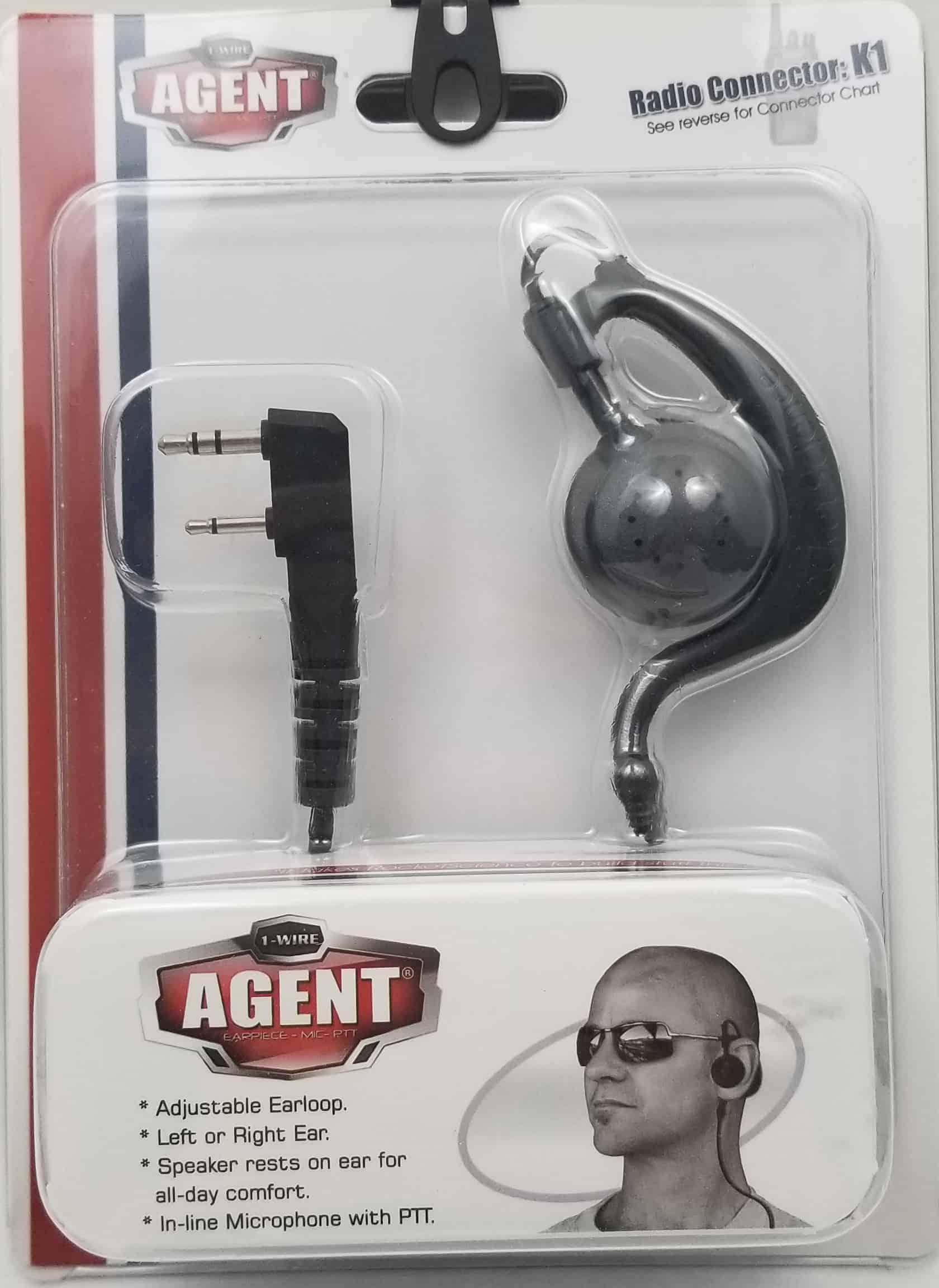 BLACKBOXAGENTK1 - Sturdy Swivel Ear loop For Kenwood Radio