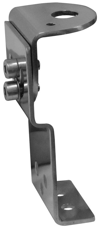 """STHS3 - Twinpoint Stainless Steel Groove Antenna Mount w/Swivel Top 1/2"""" Hole"""