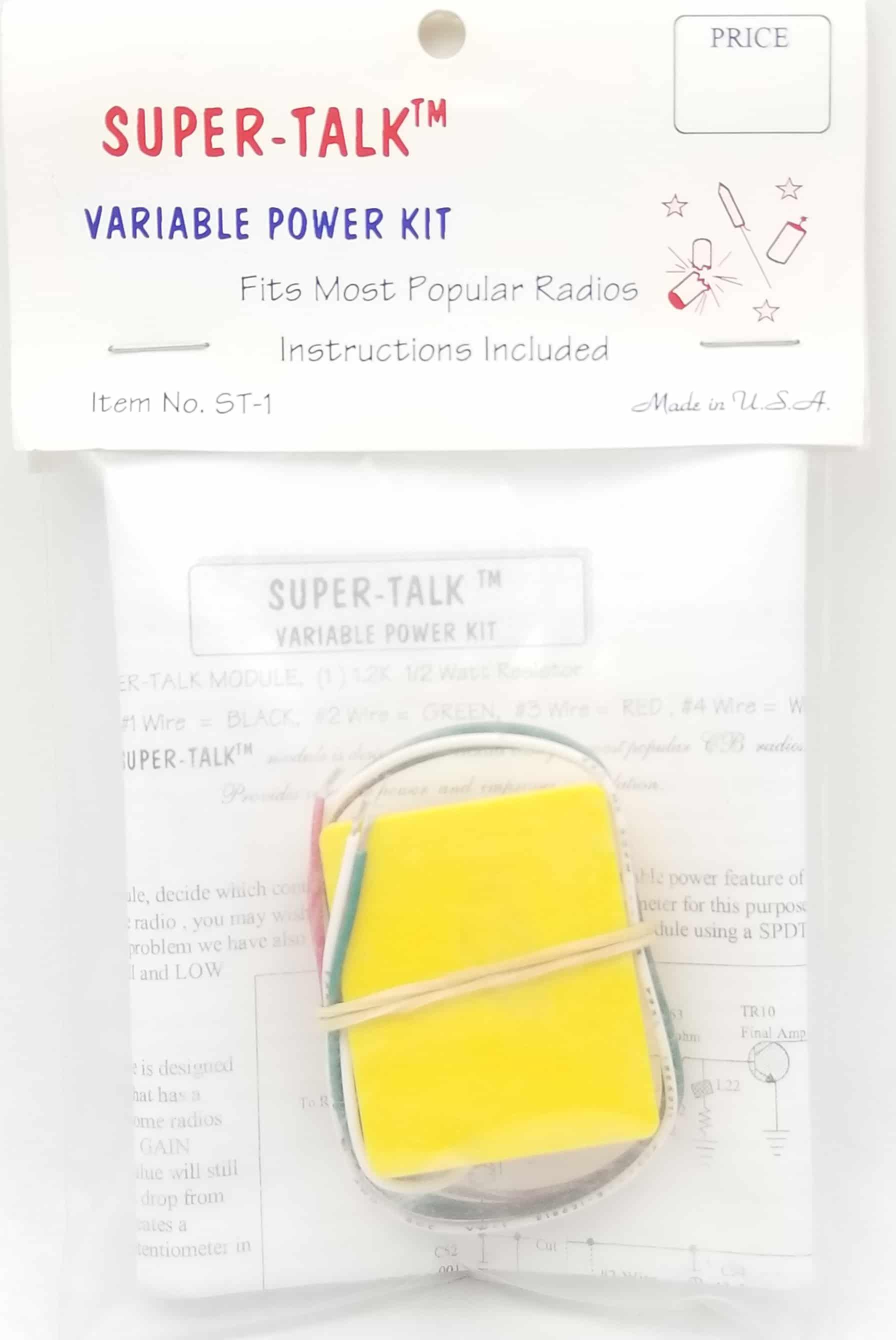 STK - Super Talk Variable Power Kit