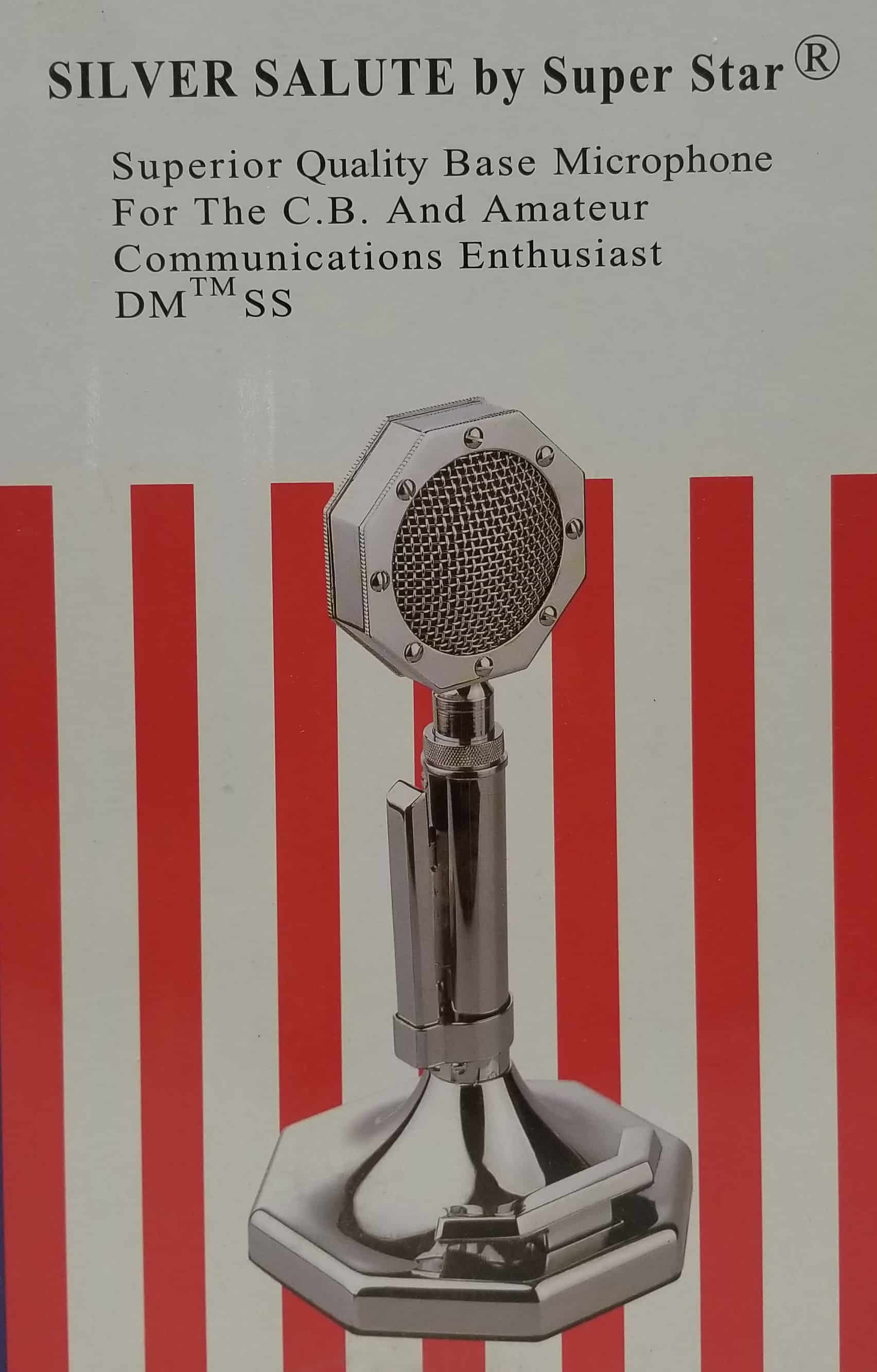 SILVER SALUTE - Super Star Base Station Microphone Wired 4 Pin (Cobra/Uniden)