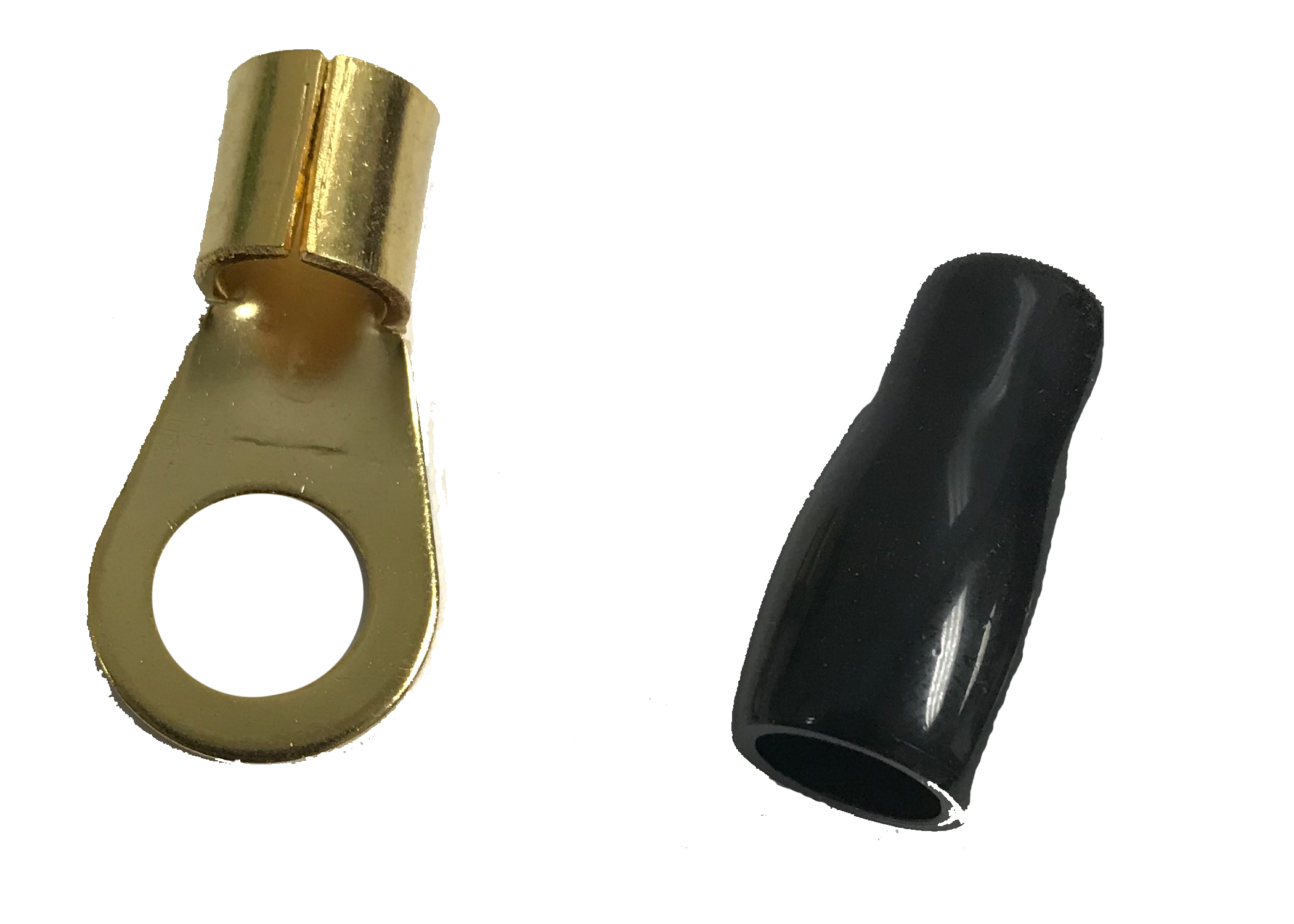 TB910 - Twinpoint (Black) 3/8 Ring Terminal For 4 Gauge Wire