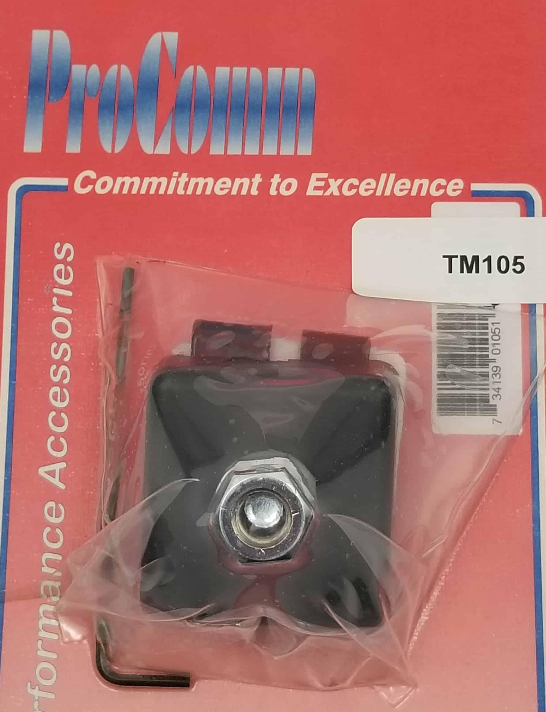TM105 - ProComm Trunk Lip Antenna Mount For 3/8 X 24