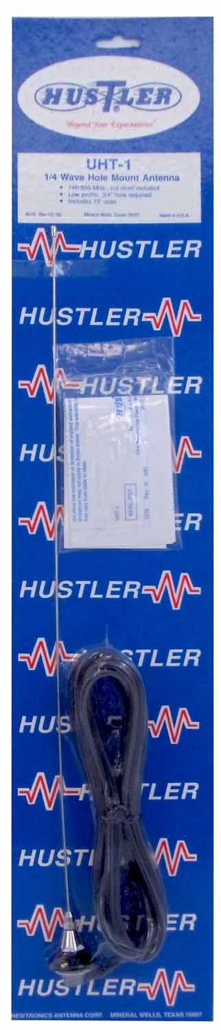 UHT1 - Hustler Roof/Deck Mount Monitor (140-500Mhz) Antenna W/15' Cable