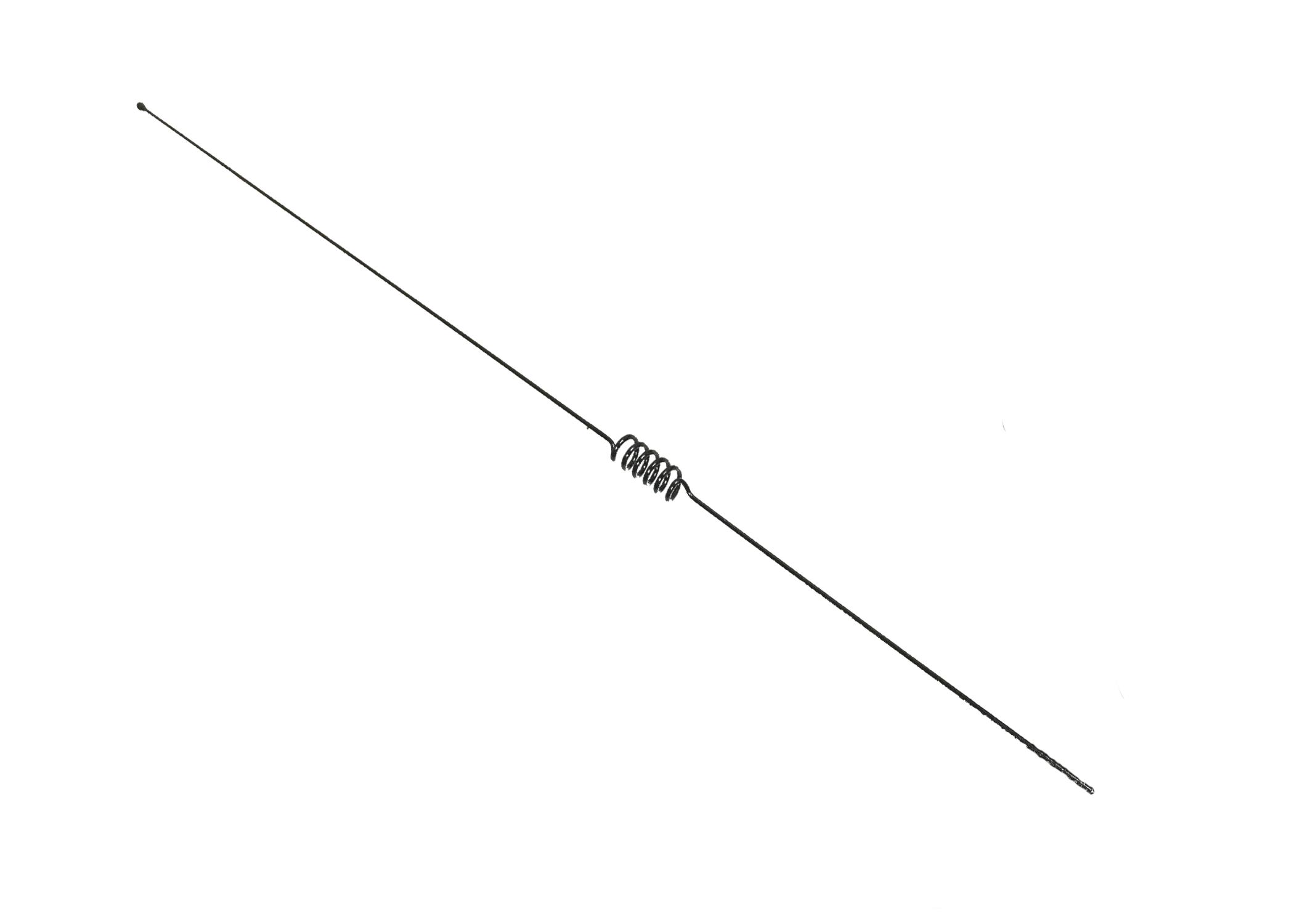 W144B - Larsen 440-460Mhx Cellular Style Whip Antenna Black