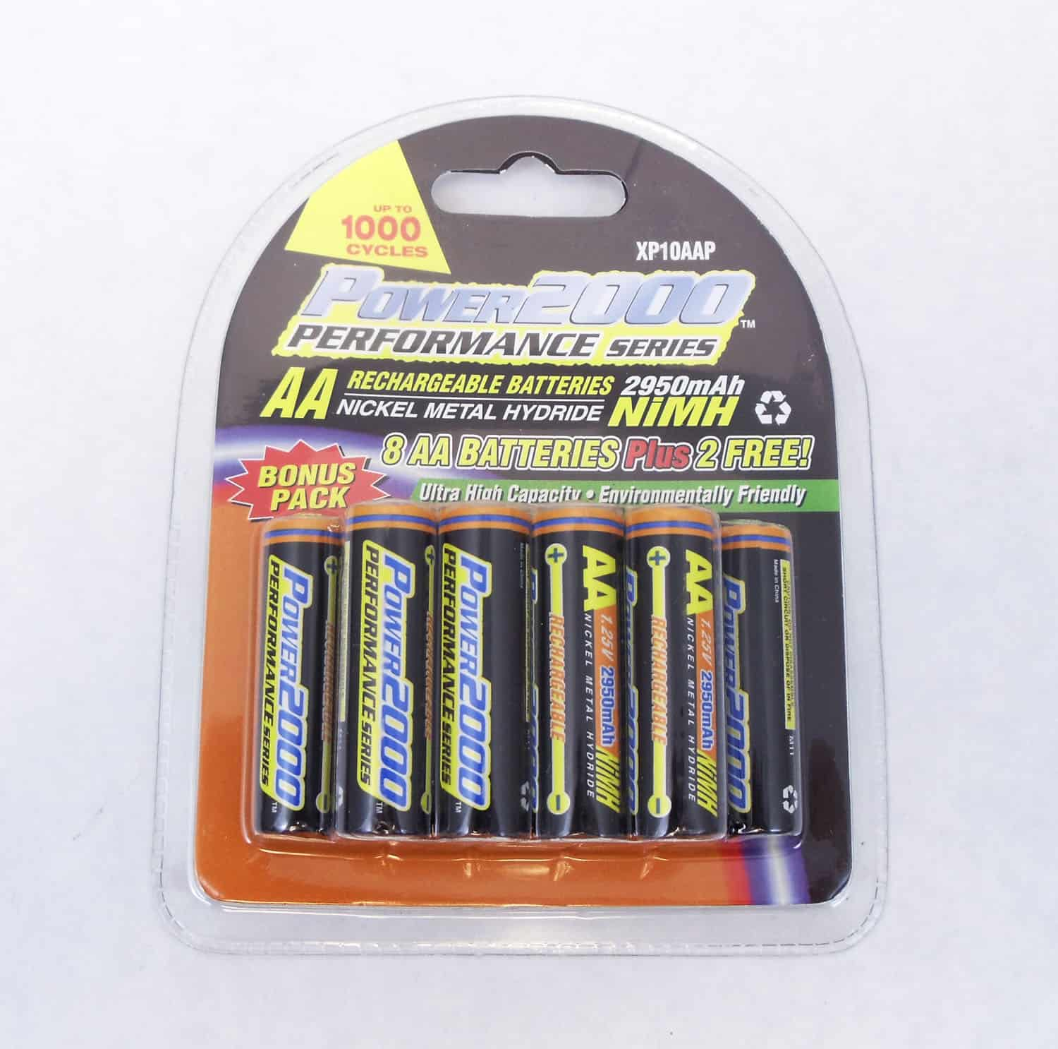 XP10AA - Power2000 Performance Series Rechargeable Batteries