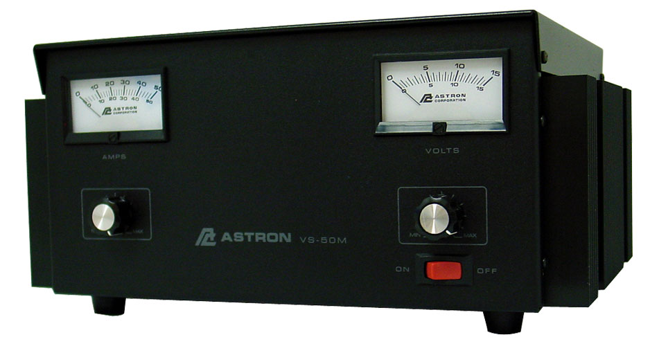 VS50M - Astron Adjustable 50 Amp Power Supply, V/A Meters