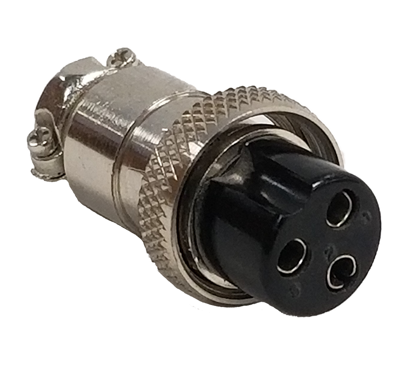 CBC3X - Marmat 3 Pin Microphone Connector (Bulk)