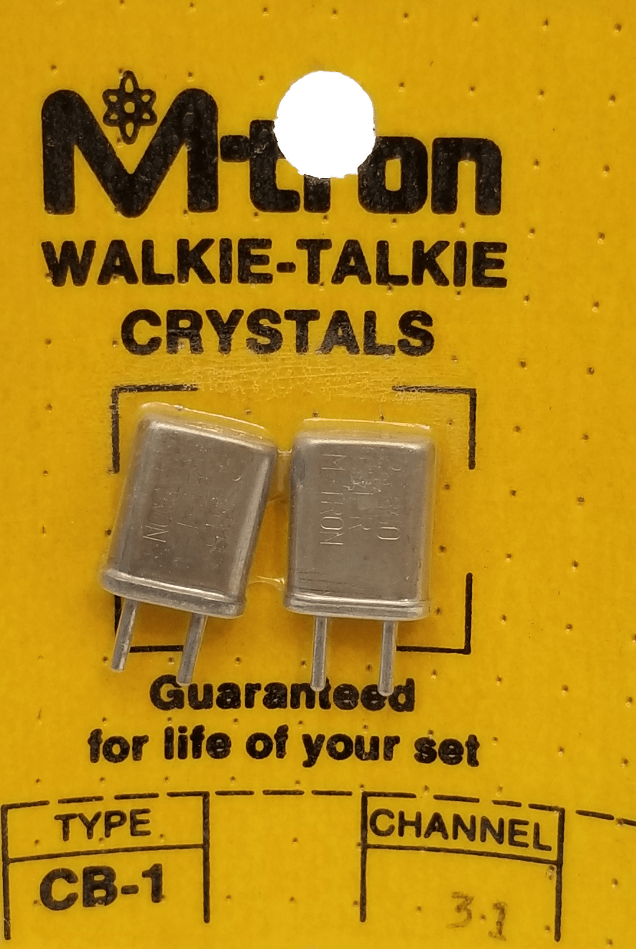 CH31 - Channel 31 Receive & Transmit Crystal Pair For Walkie Talkies