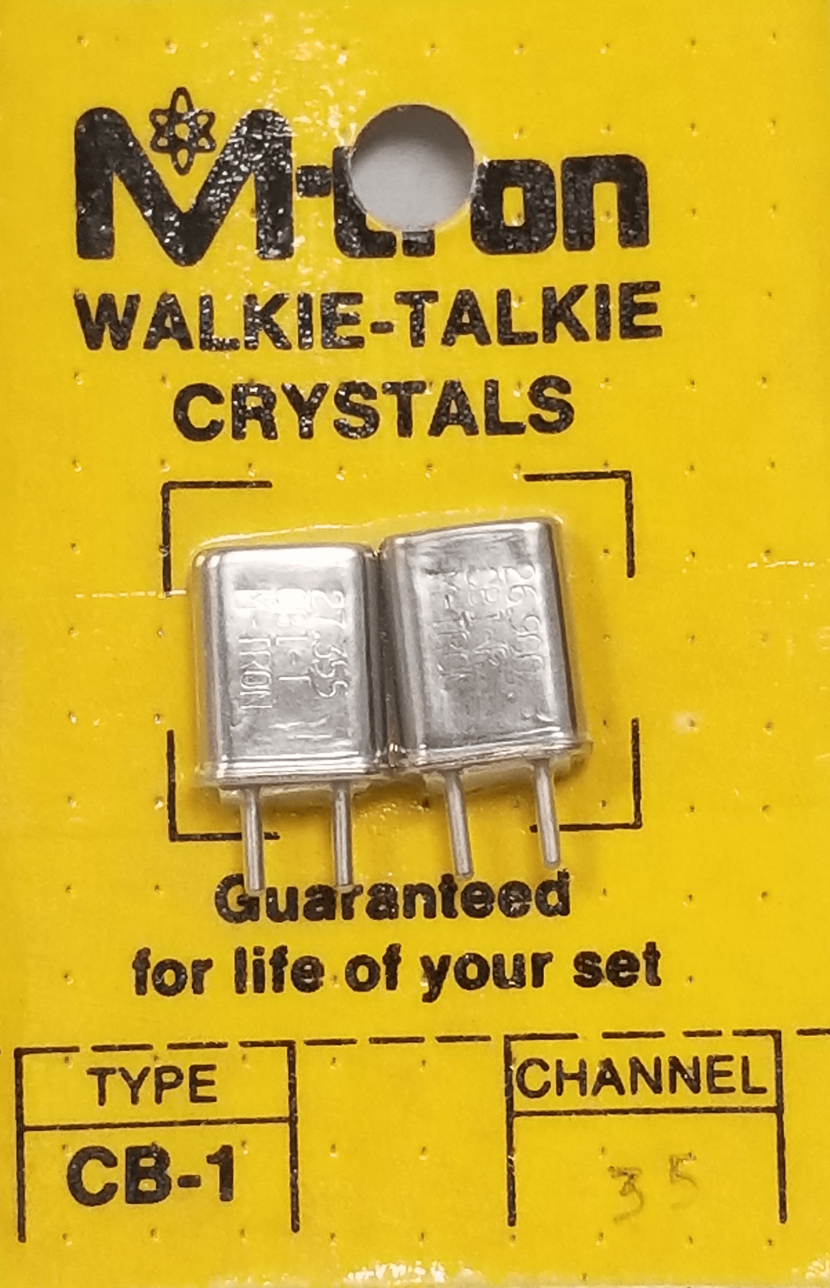 CH35 - Channel 35 Receive & Transmit Crystal Pair For Walkie Talkies