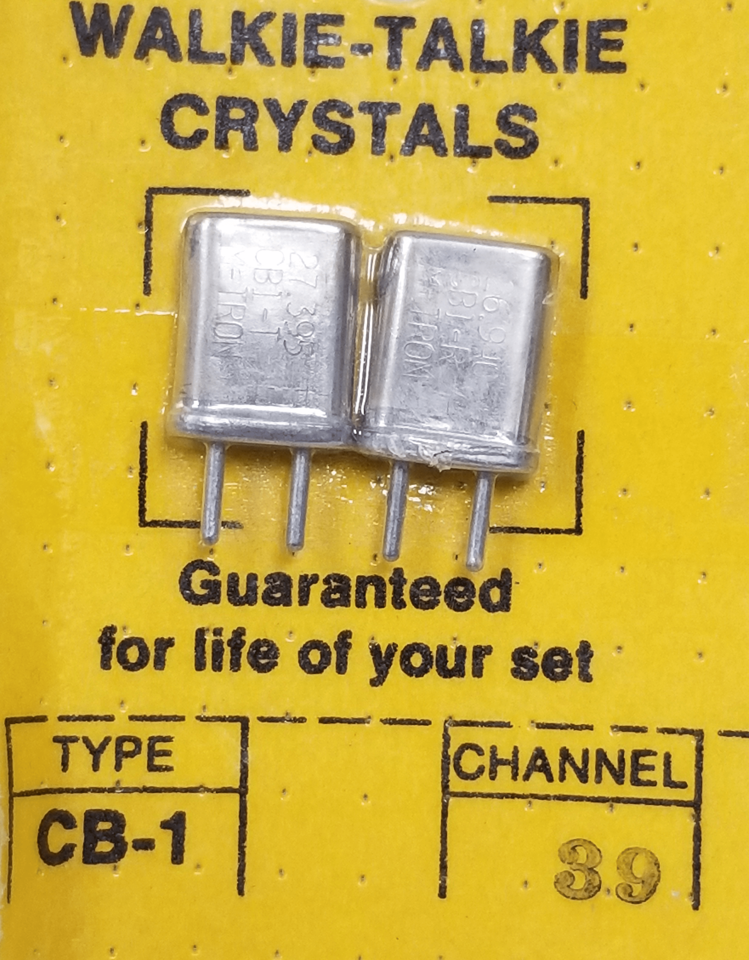 CH39 - Channel 39 Receive & Transmit Crystal Pair For Walkie Talkies
