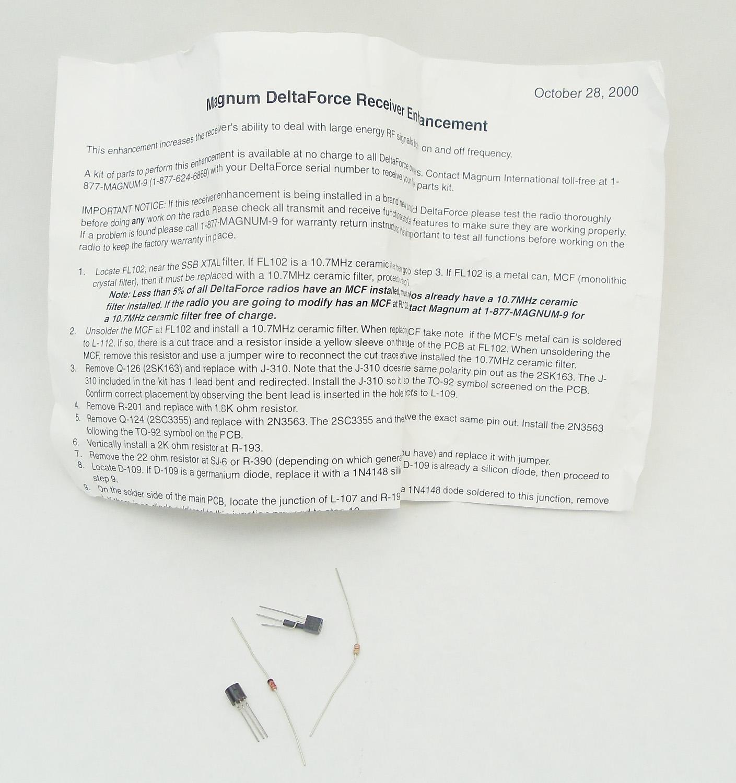 DELTAKIT - Magnum Rx Kit For Delta Force Radio