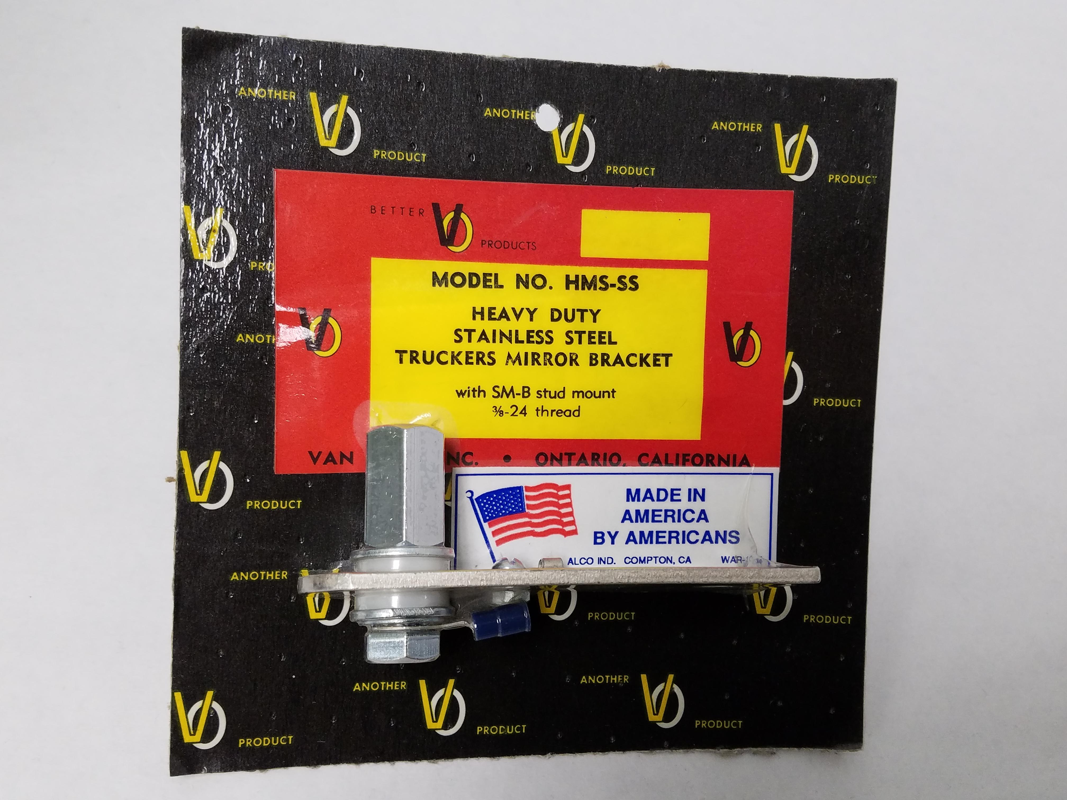 HMSSS - Heavy Duty Stainless Steel Flat Bar Mirror Bracket