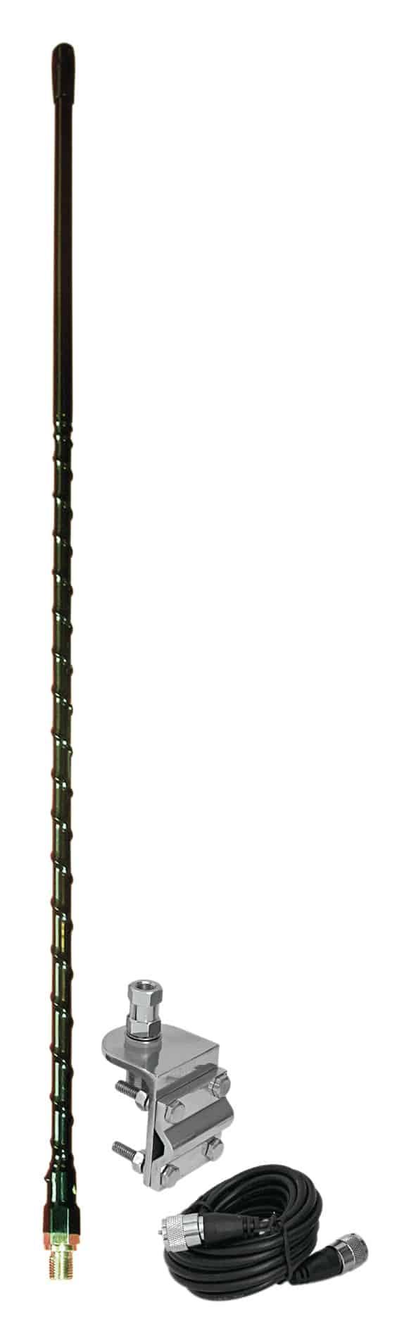 HSS995-2B - ProComm 2' Single Black Antenna Mirror Mount