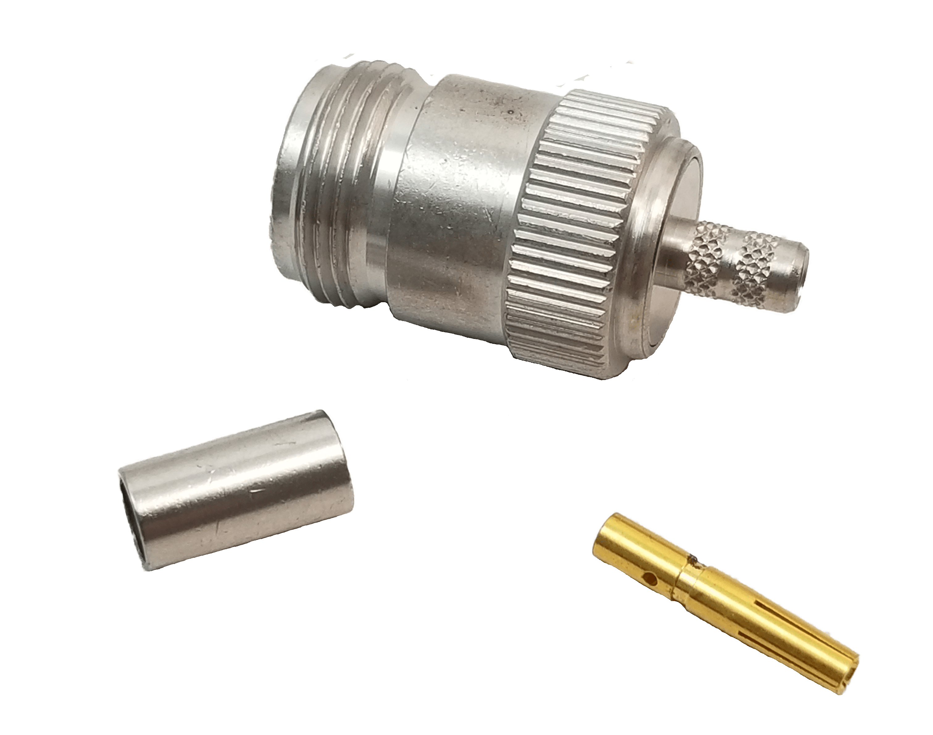 """MNF58CP - Crimp On Female """"N"""" Connector For Rg58 Coax"""