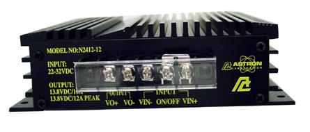 N2412-12 - Astron 22-32Vdc To 12V Dc Neg Ground Converter 10 Amp