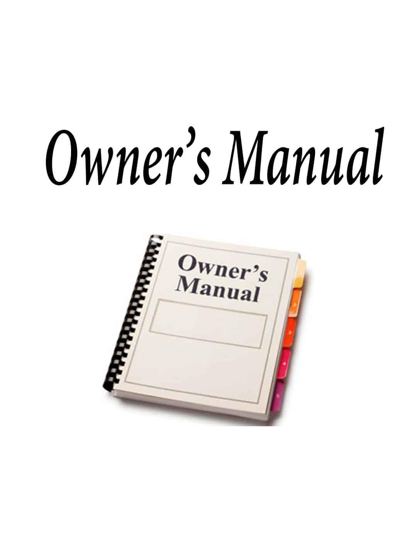OMRCI9000 - RCI Owners Manual For Rci9000