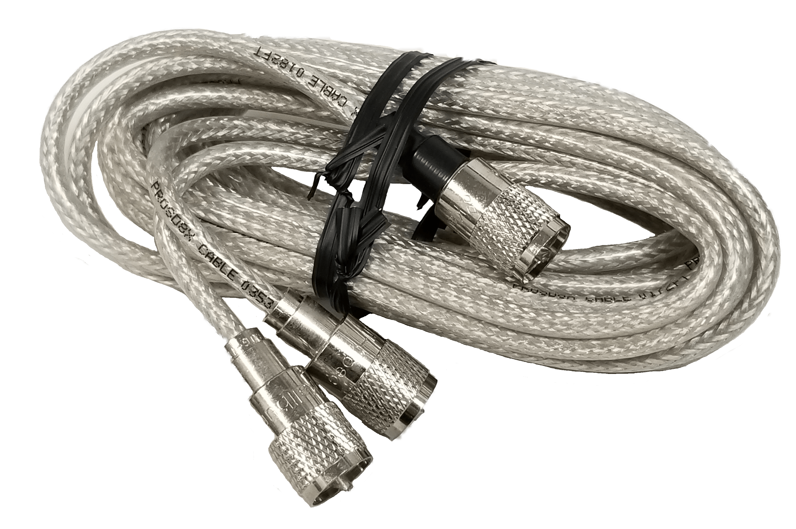 PR12SD8X - ProComm 12' Co-Phase Rg8X Coax Cable (Clear)