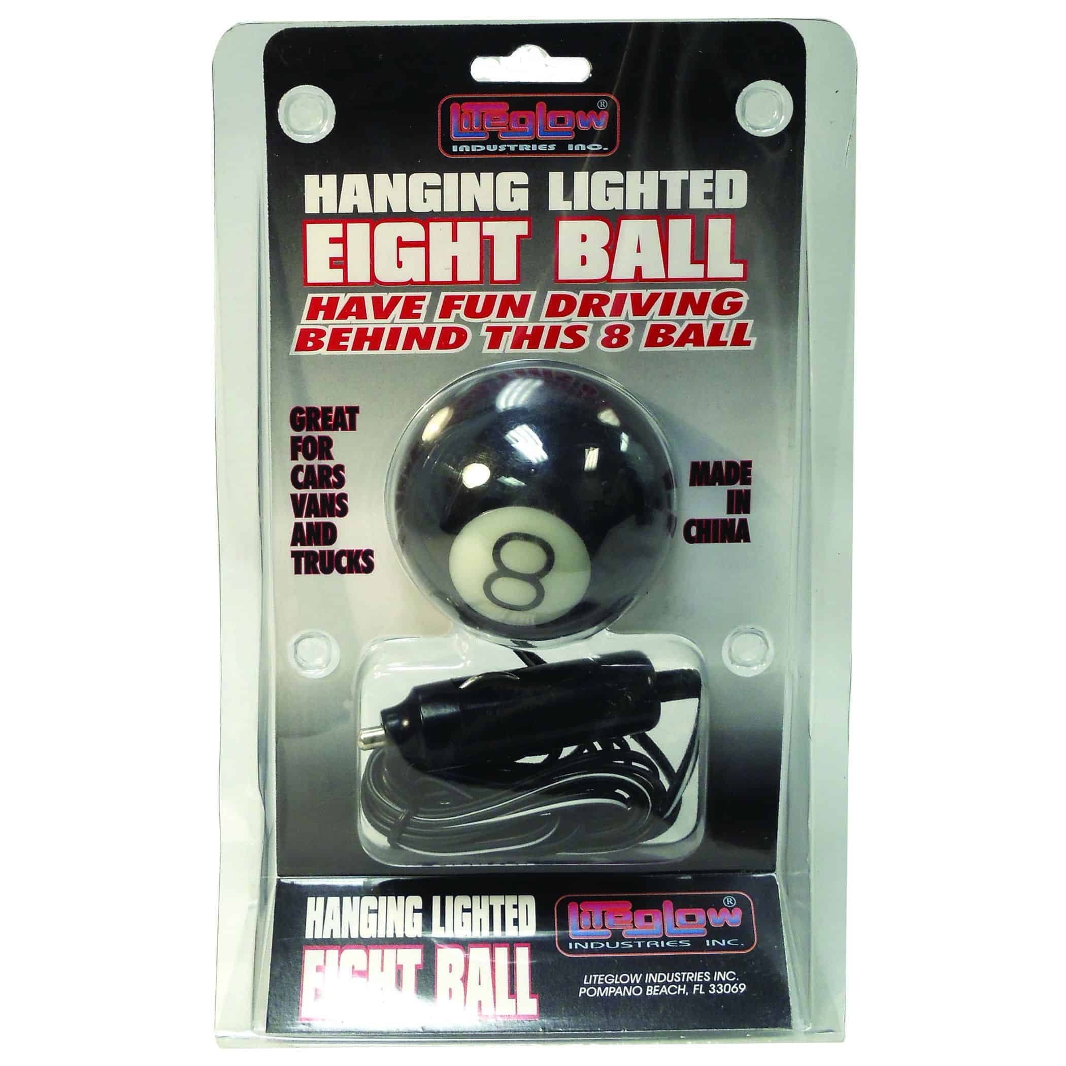 024BLL88 - Hanging Lighted Eight Ball 12V