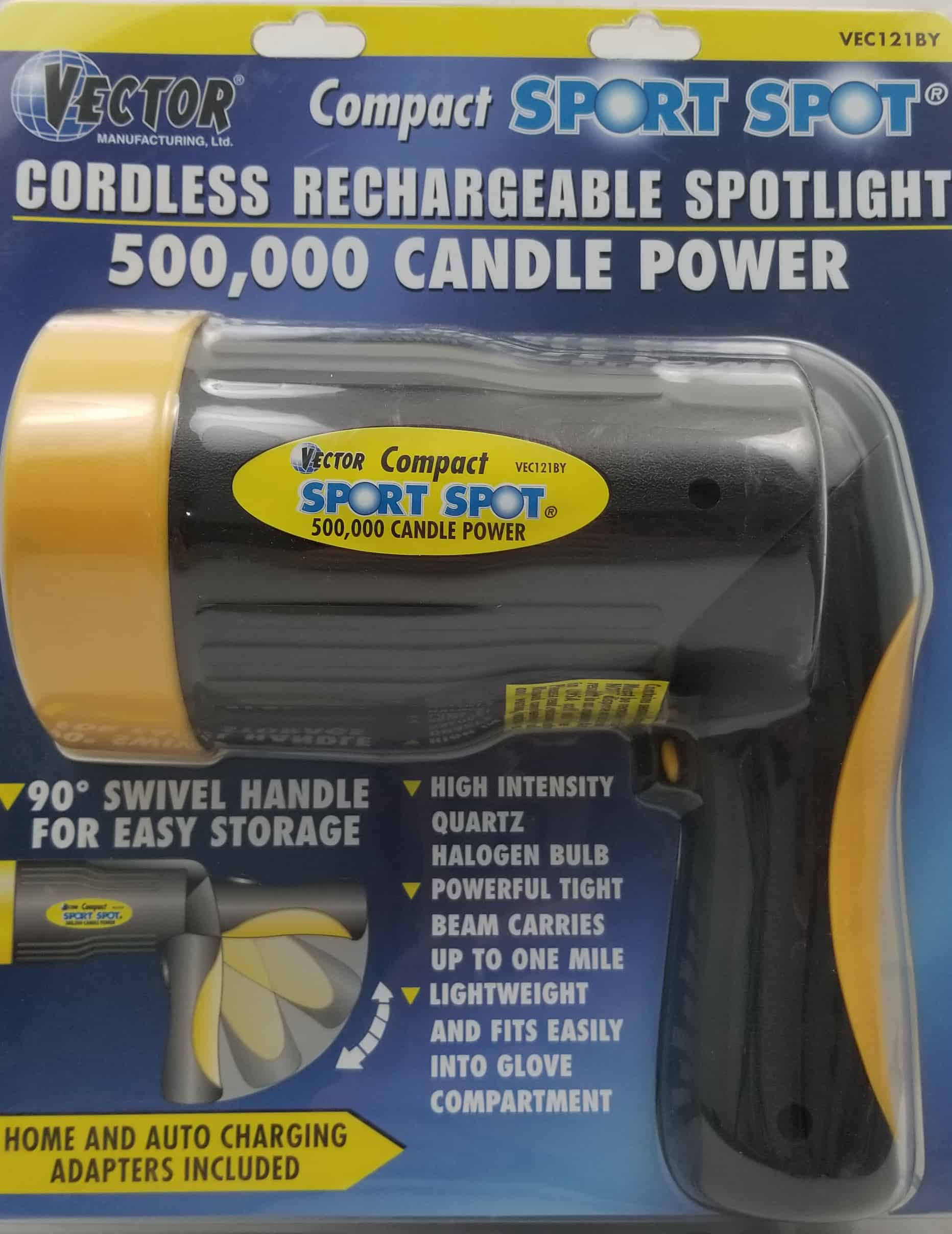 027121BY - Vector Compact Sport Spotlight 500,000 candles