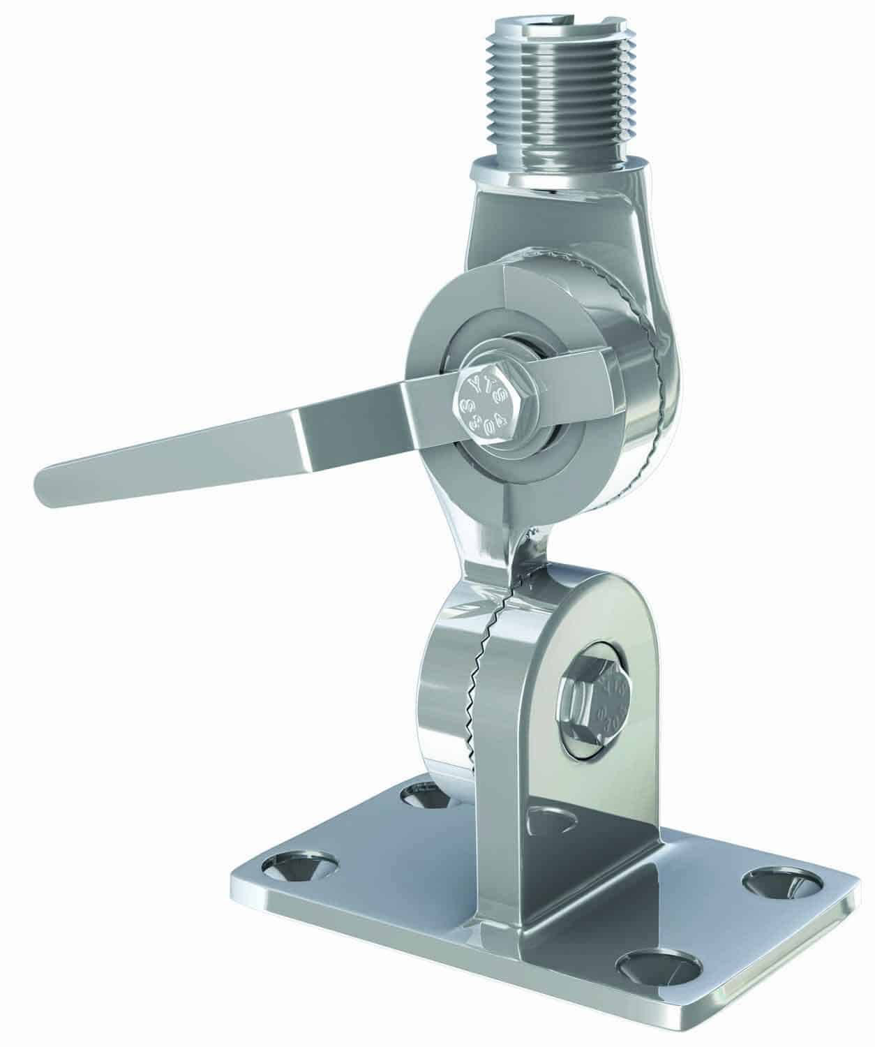 """4187HD -  SHAKESPEARE - Extra Heavy Duty 1""""-14 Thread Stainless steel Marine Mount With 4-Way Ratchet Handle"""
