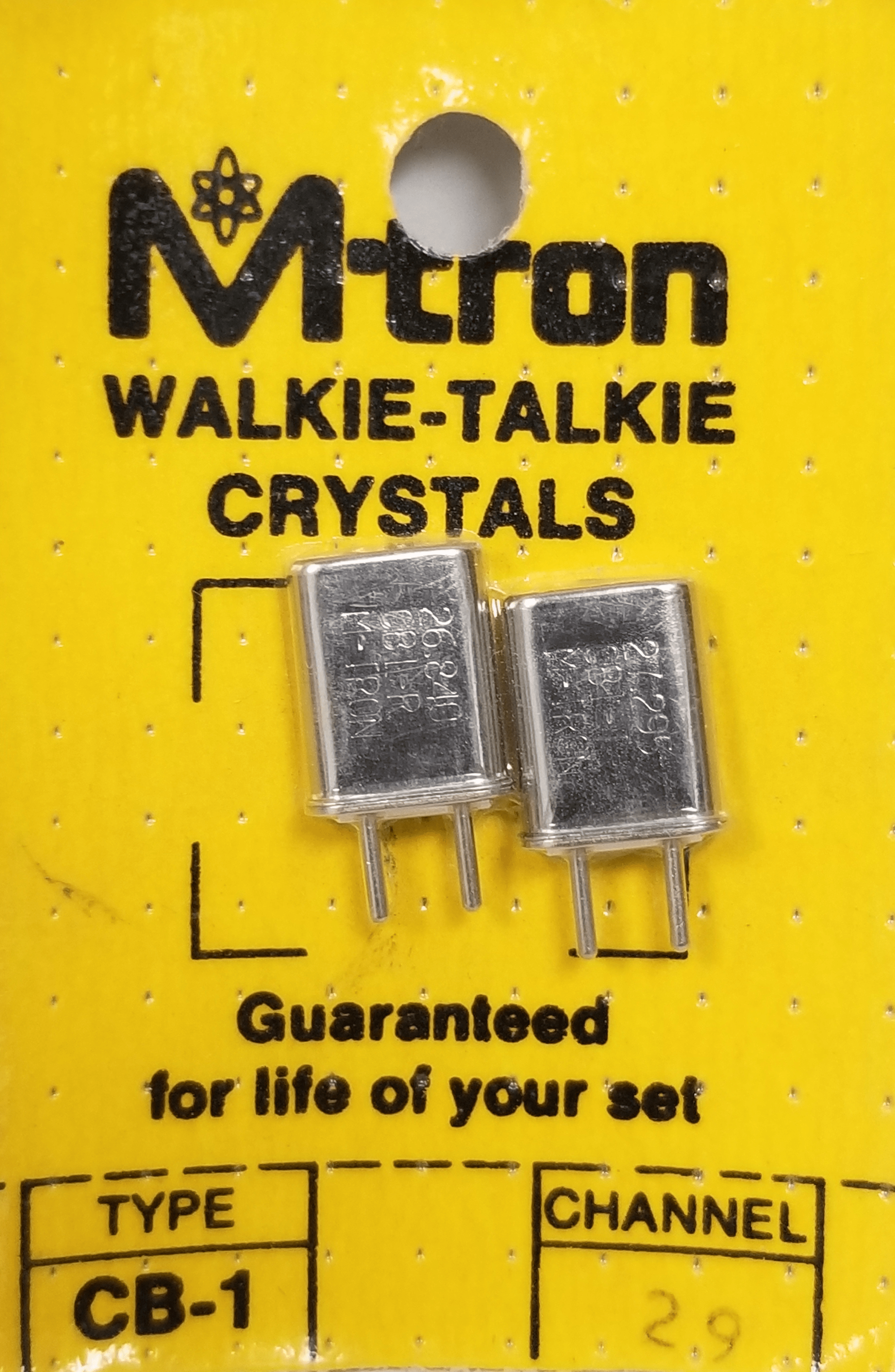 CH29 - Channel 29 Receive & Transmit Crystal Pair For Walkie Talkies