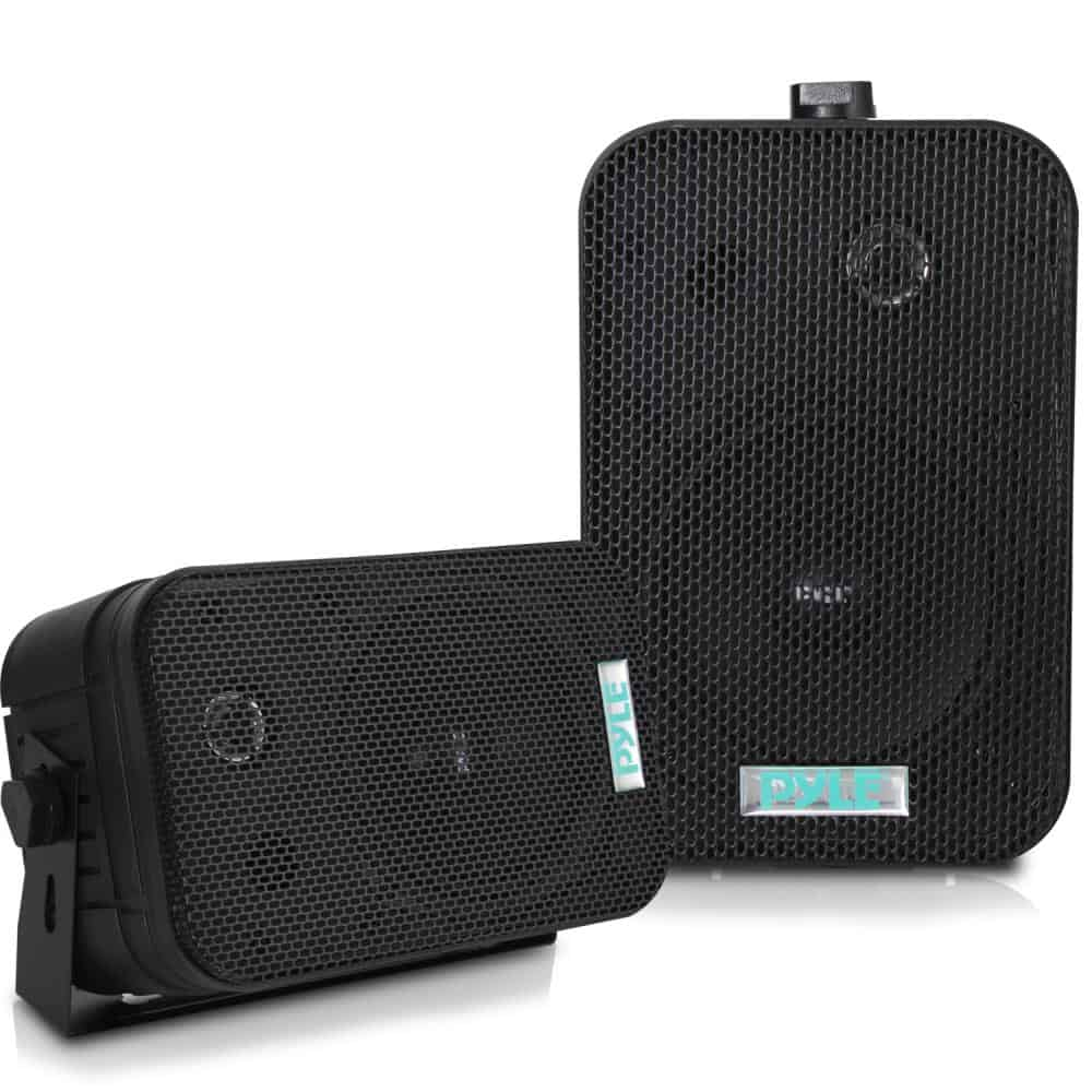 PYLE - PDWR40-B 5-1/4  €  400 Watt Indoor Or Outdoor Waterproof Boxed Speaker Pair - In Black