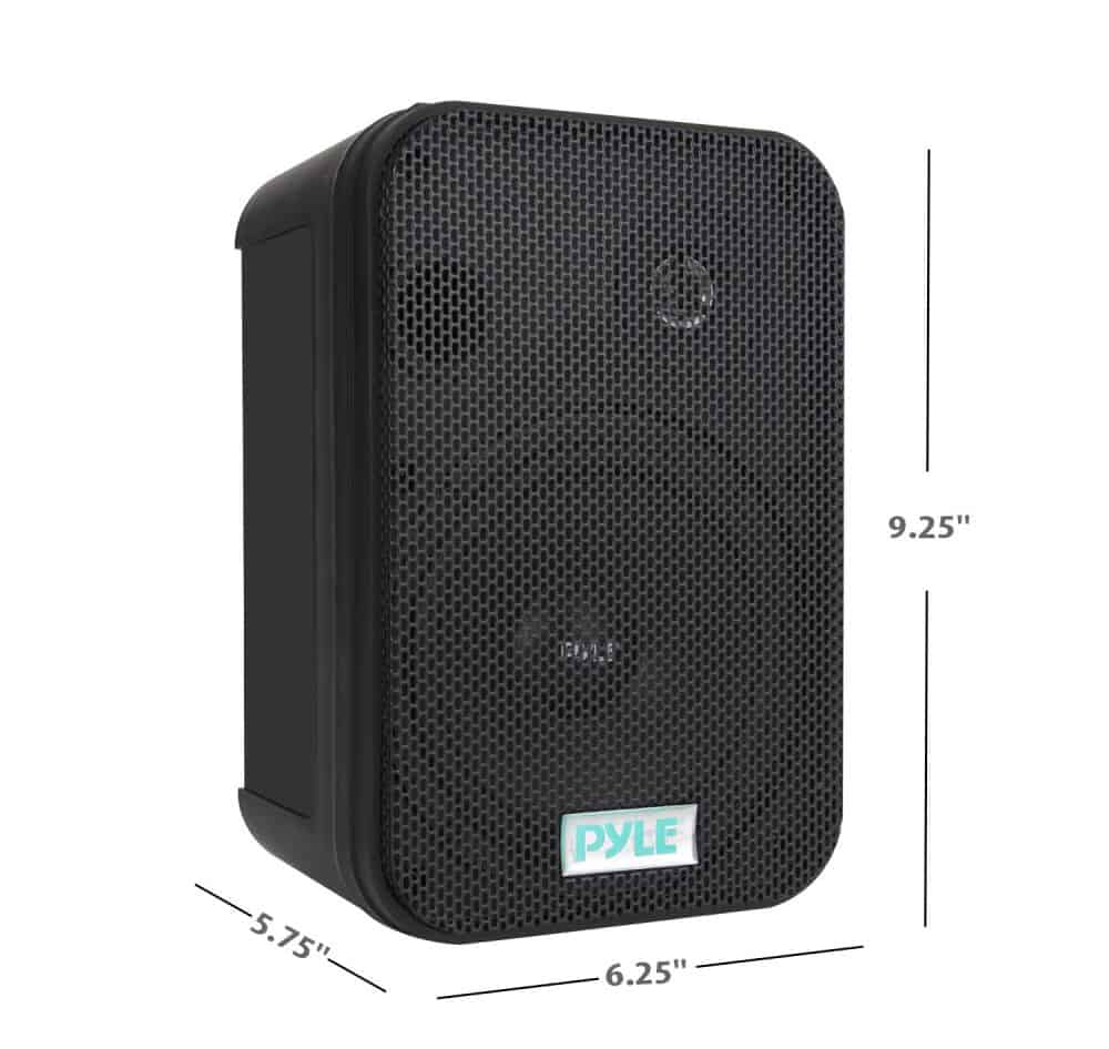 PYLE - PDWR40-B 5-1/4 400 Watt Indoor Or Outdoor Waterproof Boxed Speaker Pair - In Black